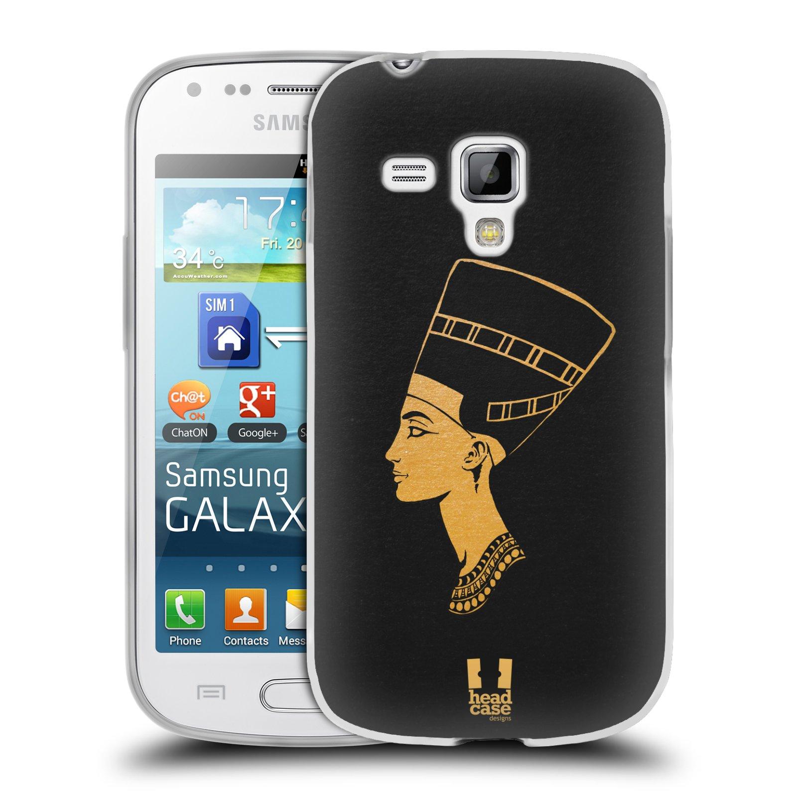 Silikonové pouzdro na mobil Samsung Galaxy Trend Plus HEAD CASE EGYPT NEFERTITI (Silikonový kryt či obal na mobilní telefon Samsung Galaxy Trend Plus GT-S7580)