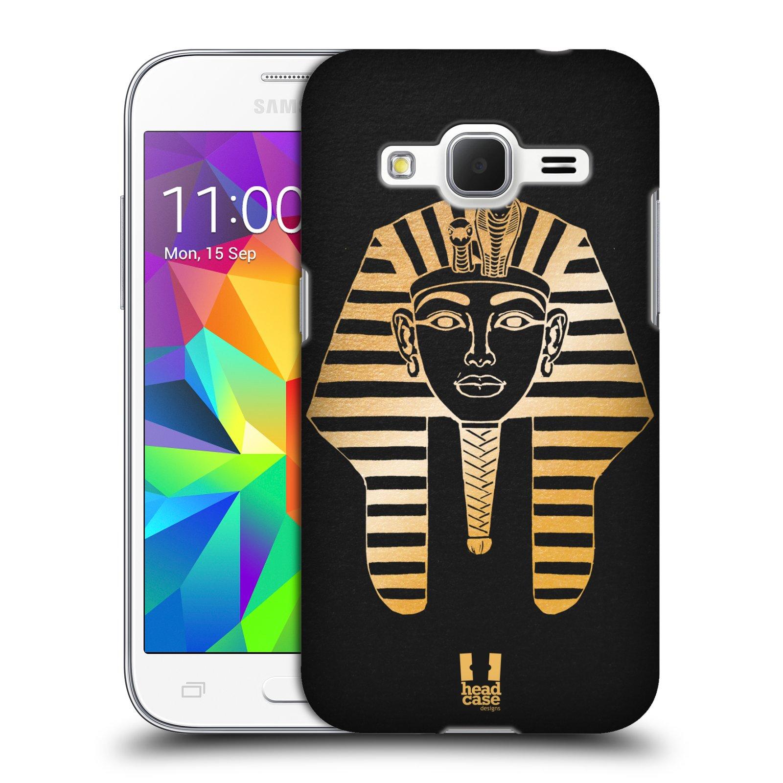 Plastové pouzdro na mobil Samsung Galaxy Core Prime VE HEAD CASE EGYPT FARAON (Kryt či obal na mobilní telefon Samsung Galaxy Core Prime LTE VE SM-G361F)