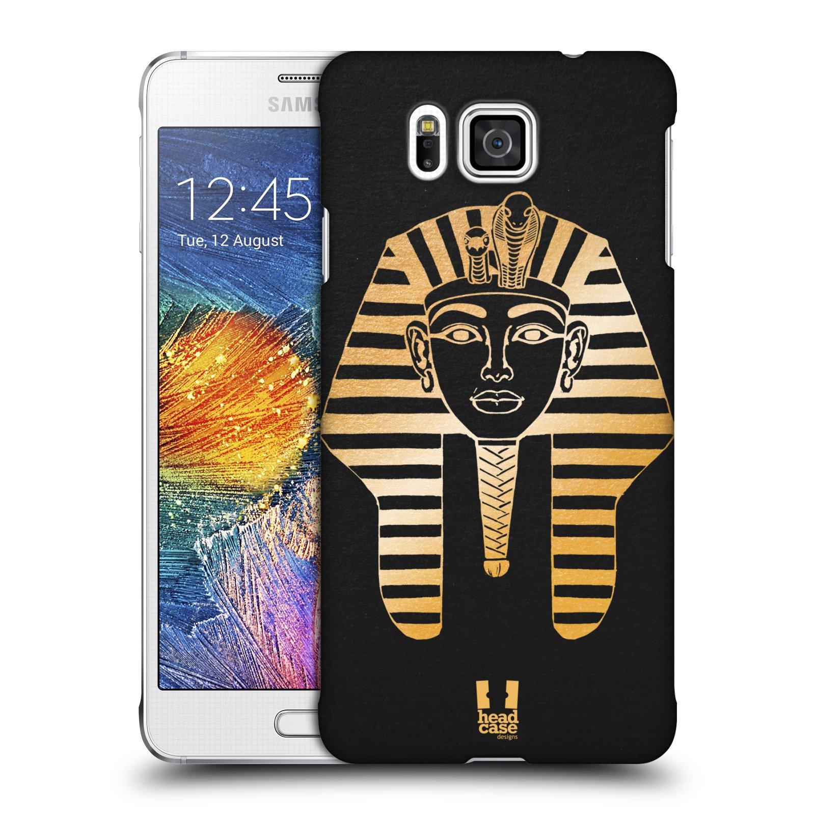 Plastové pouzdro na mobil Samsung Galaxy Alpha HEAD CASE EGYPT FARAON (Kryt či obal na mobilní telefon Samsung Galaxy Alpha SM-G850)