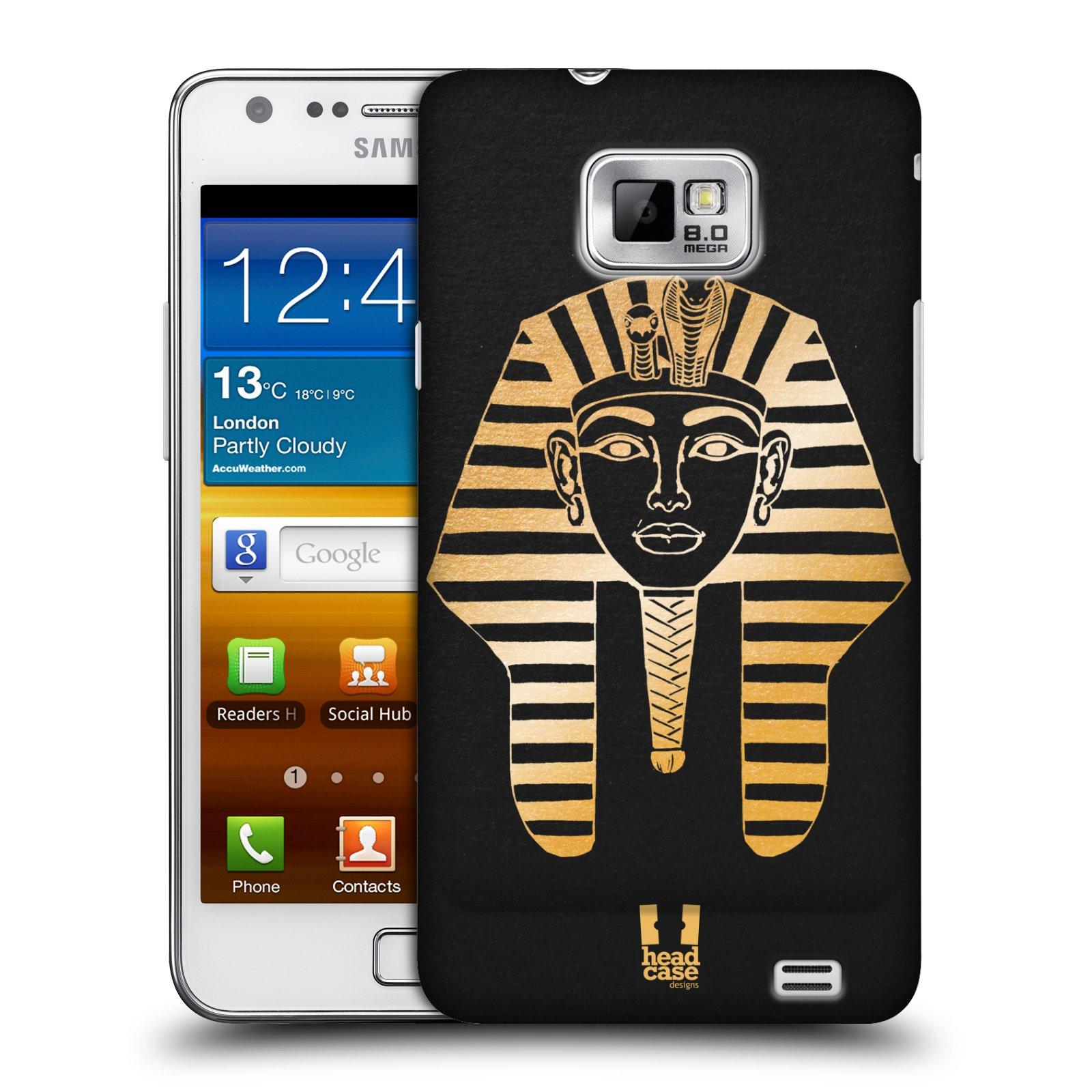 Plastové pouzdro na mobil Samsung Galaxy S II HEAD CASE EGYPT FARAON (Kryt či obal na mobilní telefon Samsung Galaxy S II GT-i9100)