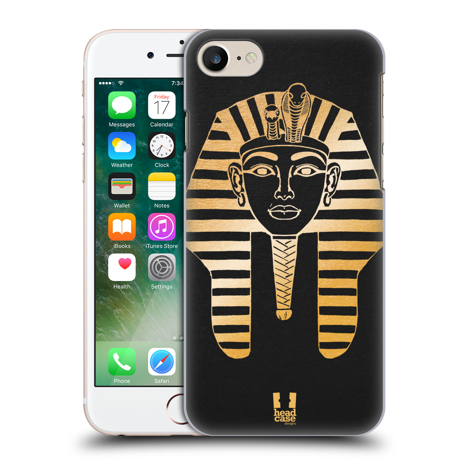 Plastové pouzdro na mobil Apple iPhone 7 HEAD CASE EGYPT FARAON