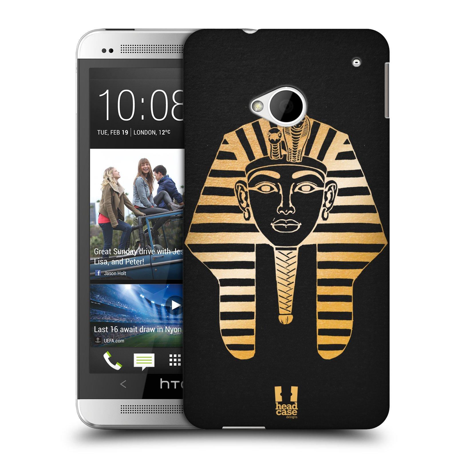 Plastové pouzdro na mobil HTC ONE M7 HEAD CASE EGYPT FARAON (Kryt či obal na mobilní telefon HTC ONE M7)