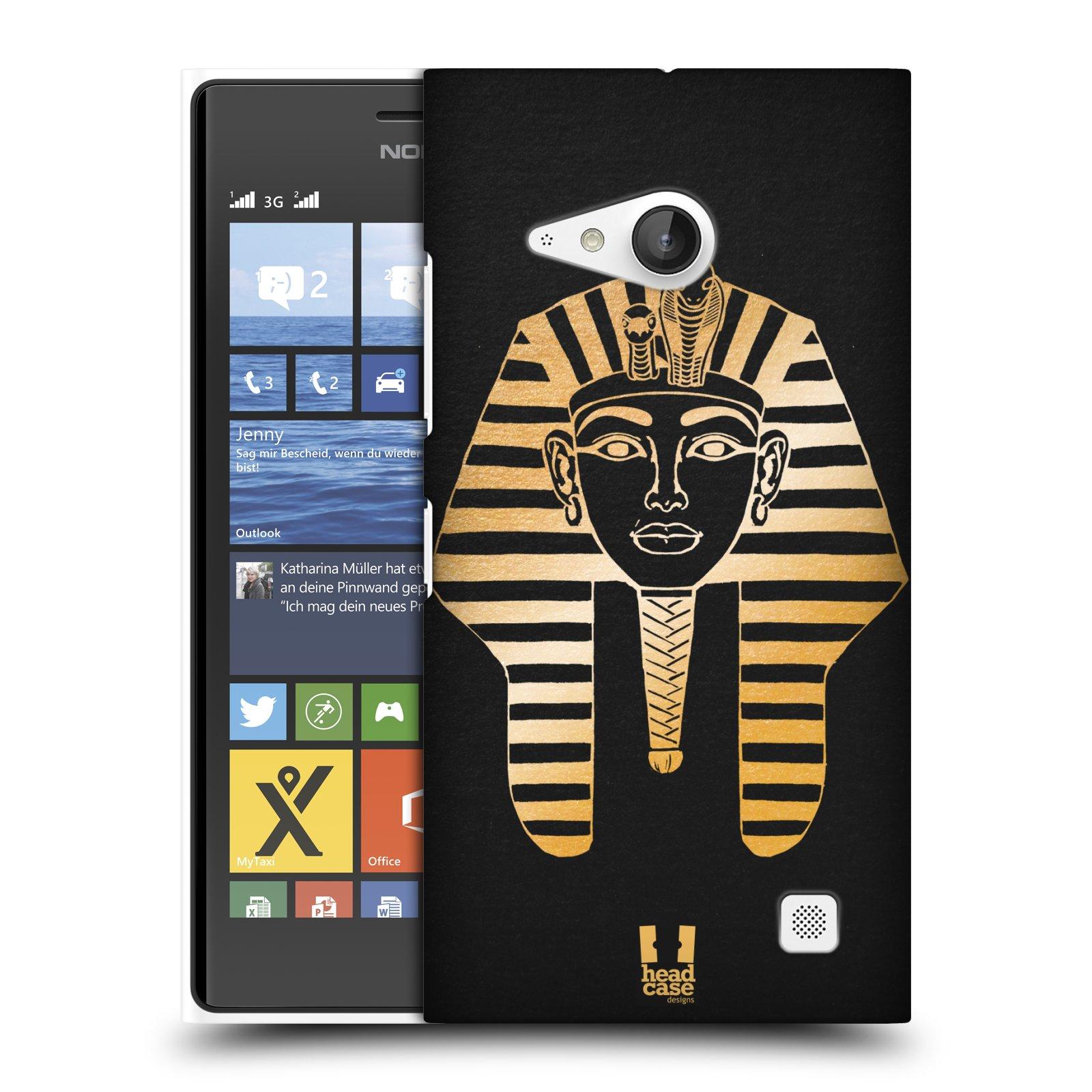 Plastové pouzdro na mobil Nokia Lumia 735 HEAD CASE EGYPT FARAON (Kryt či obal na mobilní telefon Nokia Lumia 735)