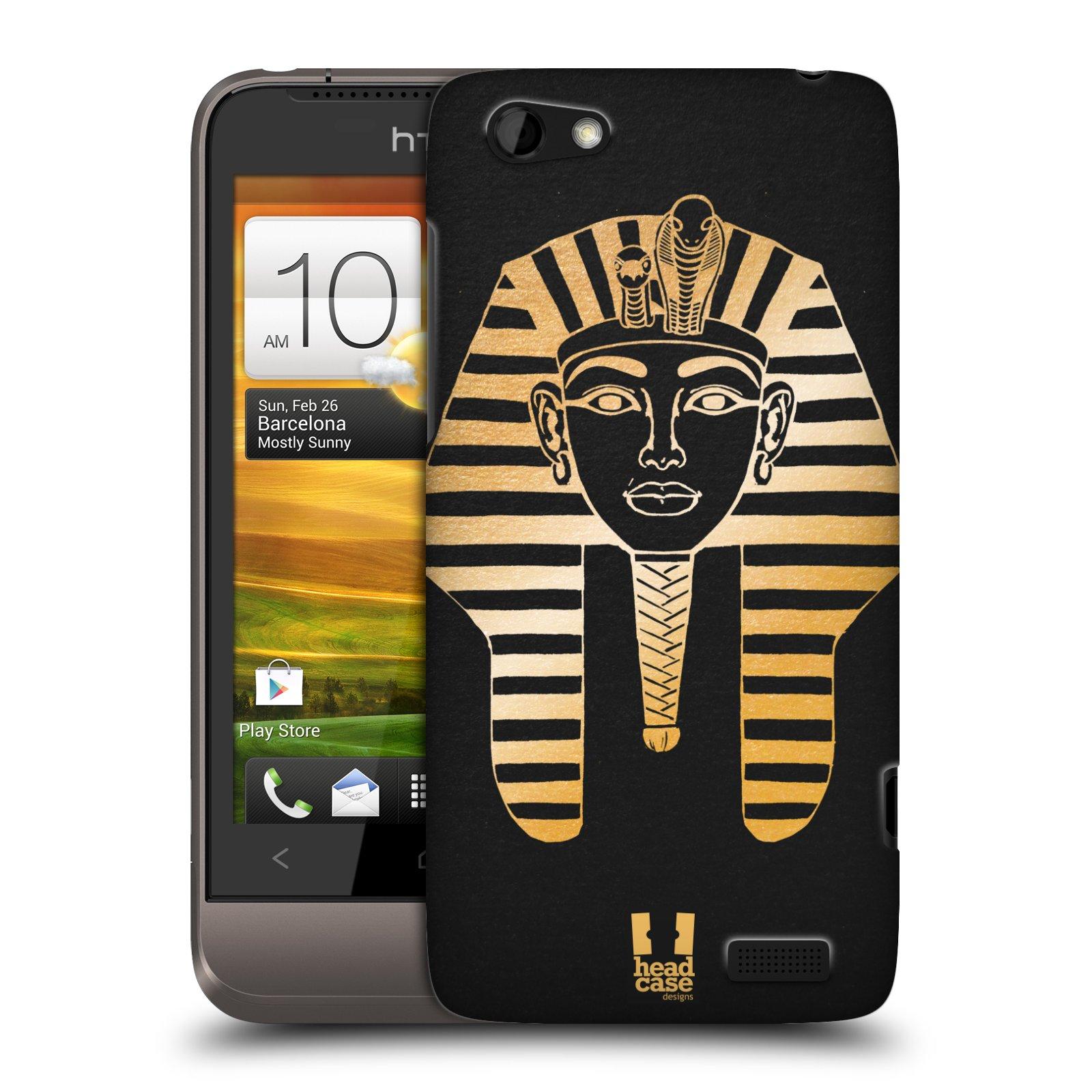 Plastové pouzdro na mobil HTC ONE V HEAD CASE EGYPT FARAON (Kryt či obal na mobilní telefon HTC ONE V)