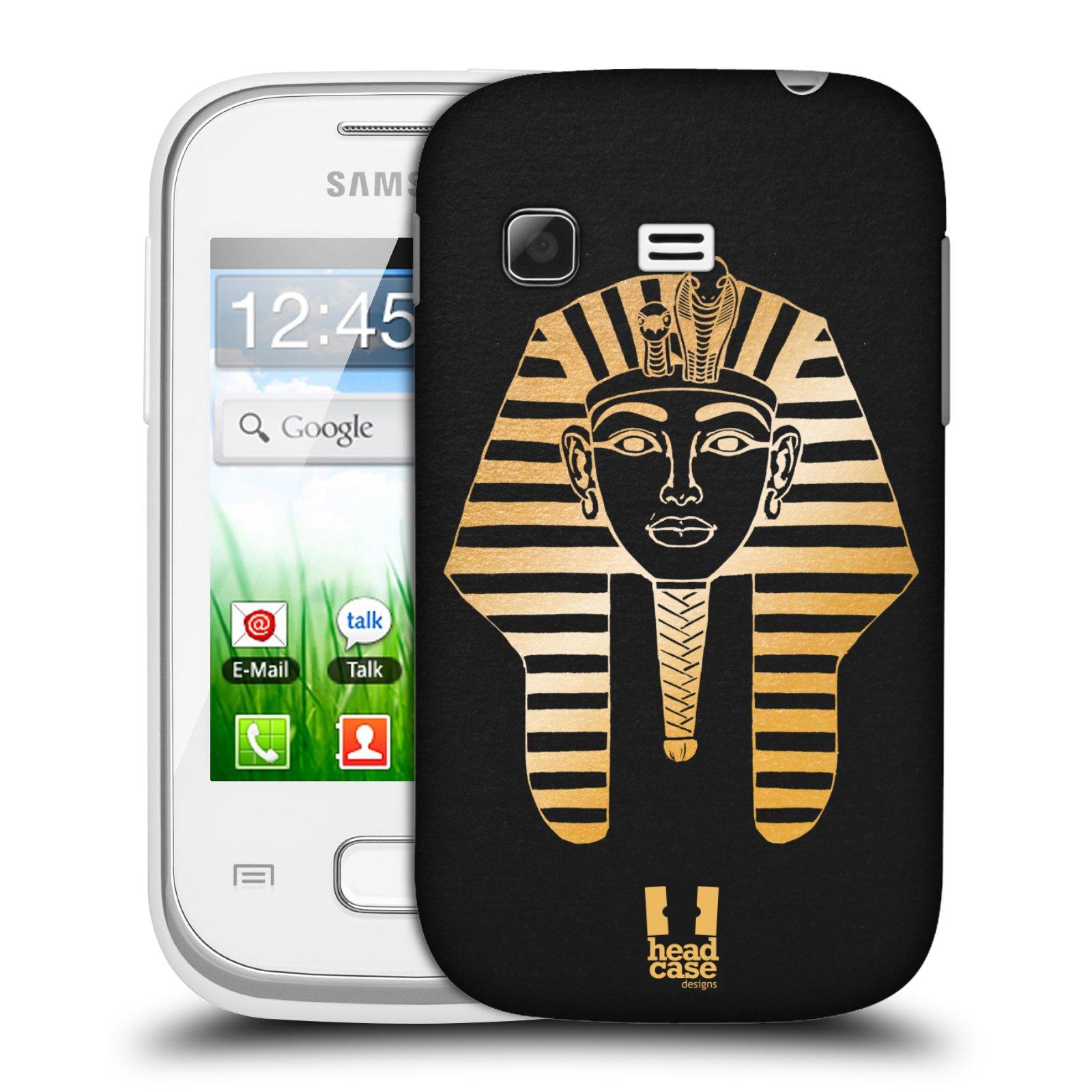 Plastové pouzdro na mobil Samsung Galaxy Pocket HEAD CASE EGYPT FARAON (Kryt či obal na mobilní telefon Samsung Galaxy Pocket GT-S5300)