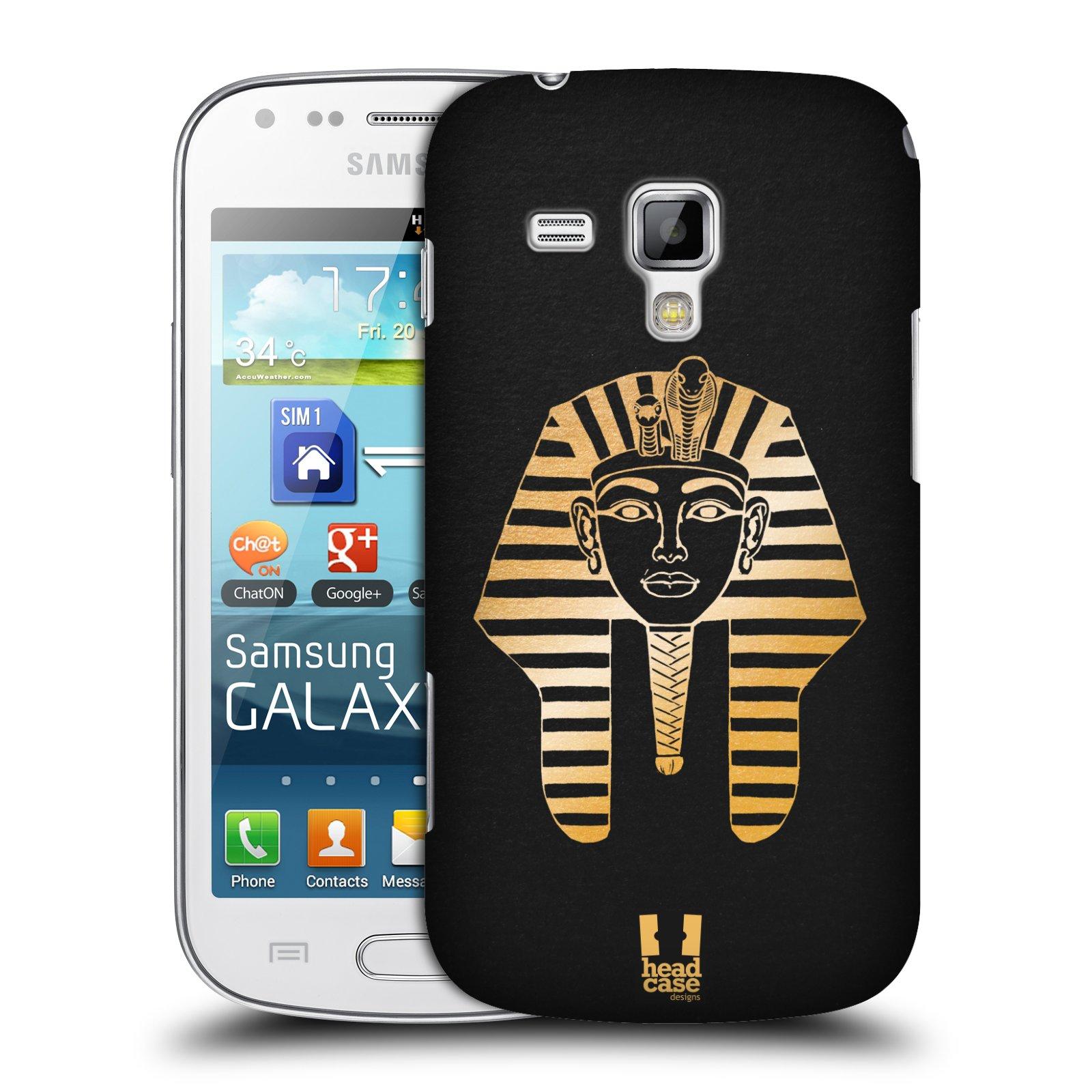 Plastové pouzdro na mobil Samsung Galaxy S Duos HEAD CASE EGYPT FARAON (Kryt či obal na mobilní telefon Samsung Galaxy S Duos GT-S7562)