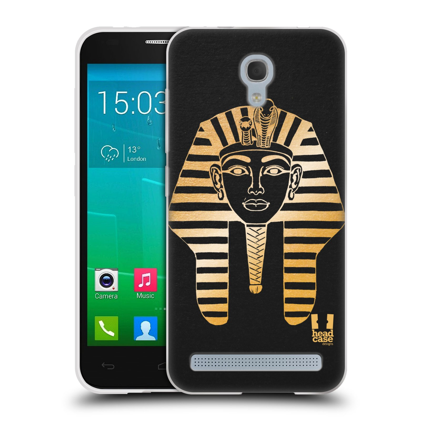 Silikonové pouzdro na mobil Alcatel One Touch Idol 2 Mini S 6036Y HEAD CASE EGYPT FARAON (Silikonový kryt či obal na mobilní telefon Alcatel Idol 2 Mini S OT-6036Y)