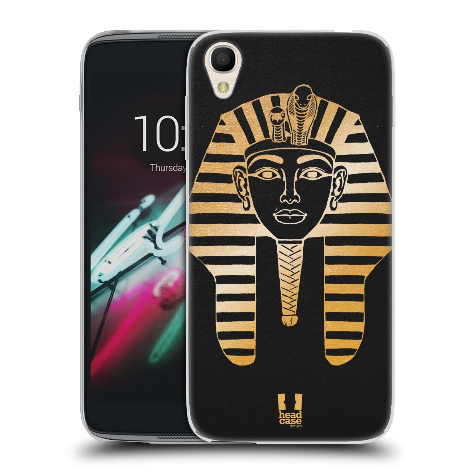 "Silikonové pouzdro na mobil Alcatel One Touch 6039Y Idol 3 HEAD CASE EGYPT FARAON (Silikonový kryt či obal na mobilní telefon Alcatel One Touch Idol 3 OT-6039Y s 4,7"" displejem)"