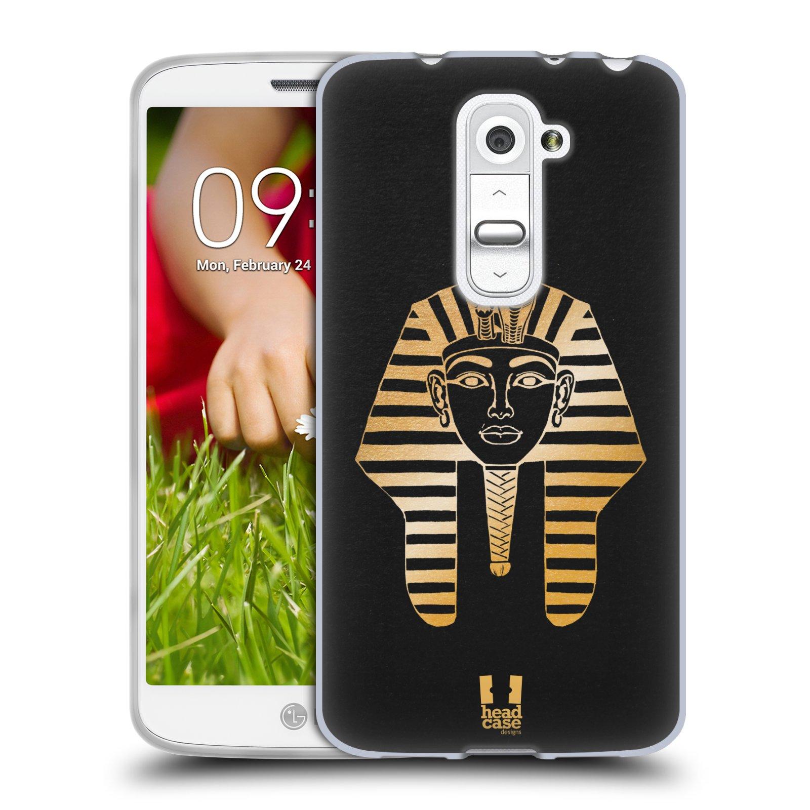 Silikonové pouzdro na mobil LG G2 Mini HEAD CASE EGYPT FARAON (Silikonový kryt či obal na mobilní telefon LG G2 Mini D620)