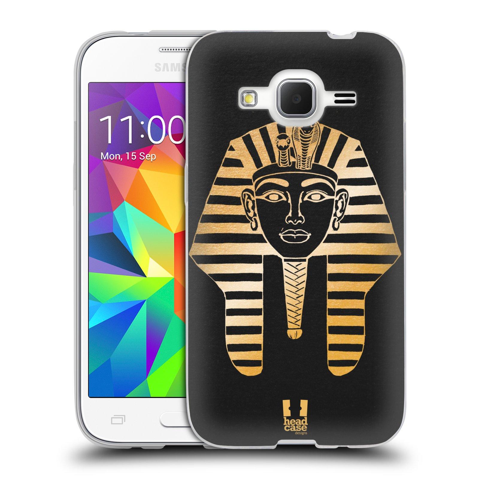 Silikonové pouzdro na mobil Samsung Galaxy Core Prime LTE HEAD CASE EGYPT FARAON (Silikonový kryt či obal na mobilní telefon Samsung Galaxy Core Prime LTE SM-G360)