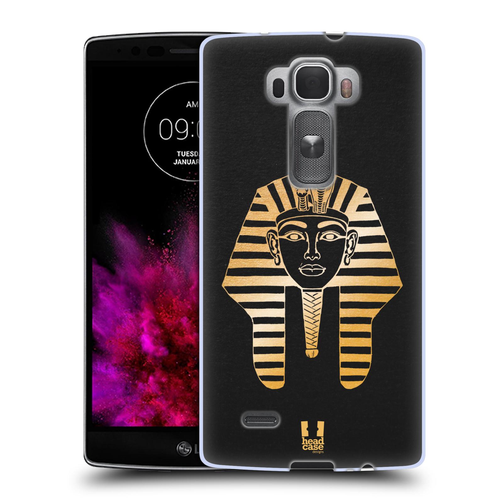 Silikonové pouzdro na mobil LG G Flex 2 HEAD CASE EGYPT FARAON (Silikonový kryt či obal na mobilní telefon LG G Flex 2 H955)