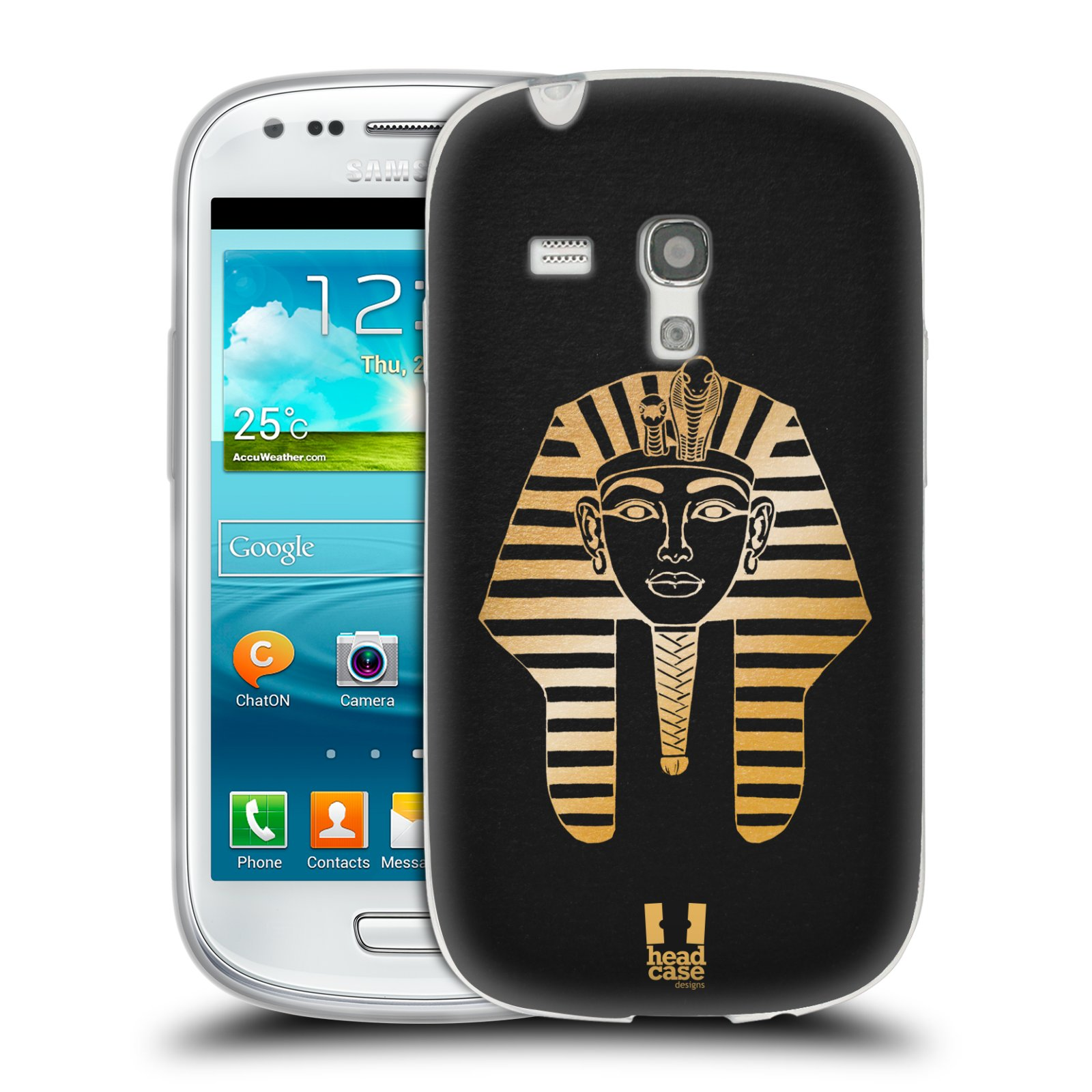 Silikonové pouzdro na mobil Samsung Galaxy S III Mini HEAD CASE EGYPT FARAON (Silikonový kryt či obal na mobilní telefon Samsung Galaxy S III Mini GT-i8190)