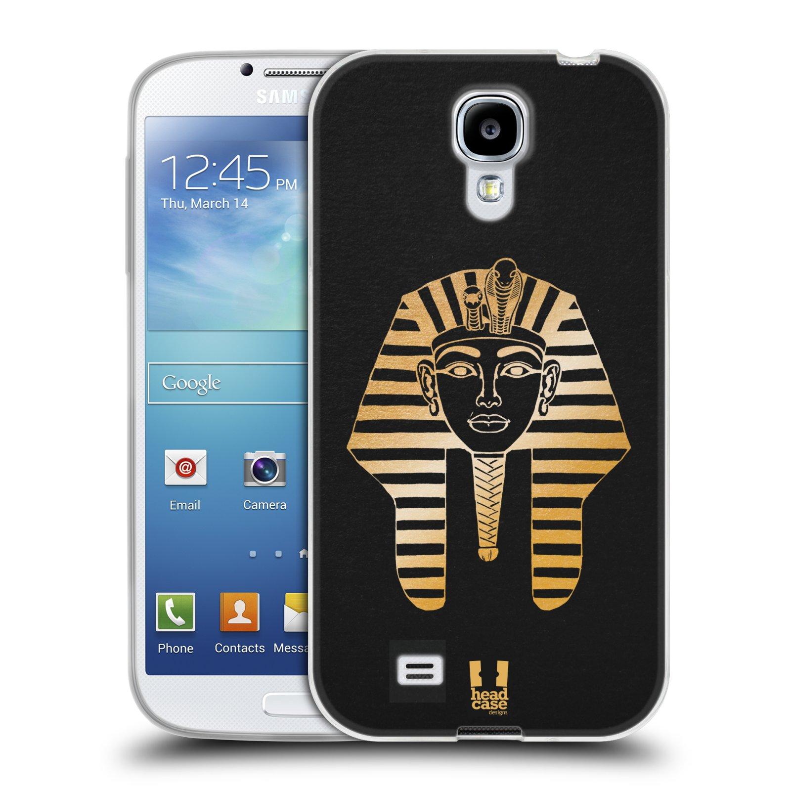 Silikonové pouzdro na mobil Samsung Galaxy S4 HEAD CASE EGYPT FARAON (Silikonový kryt či obal na mobilní telefon Samsung Galaxy S4 GT-i9505 / i9500)
