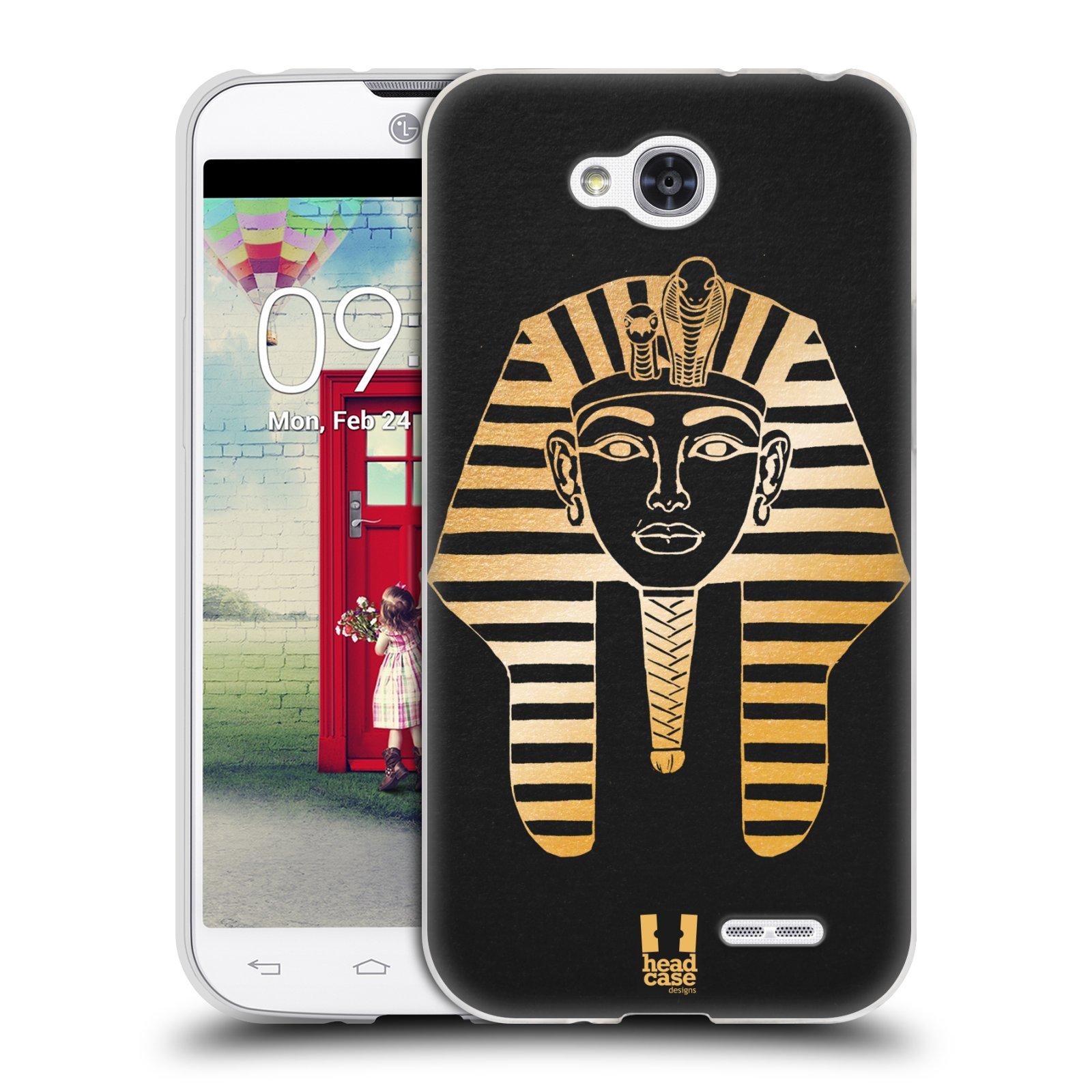 Silikonové pouzdro na mobil LG L90 HEAD CASE EGYPT FARAON (Silikonový kryt či obal na mobilní telefon LG L90 D405n)