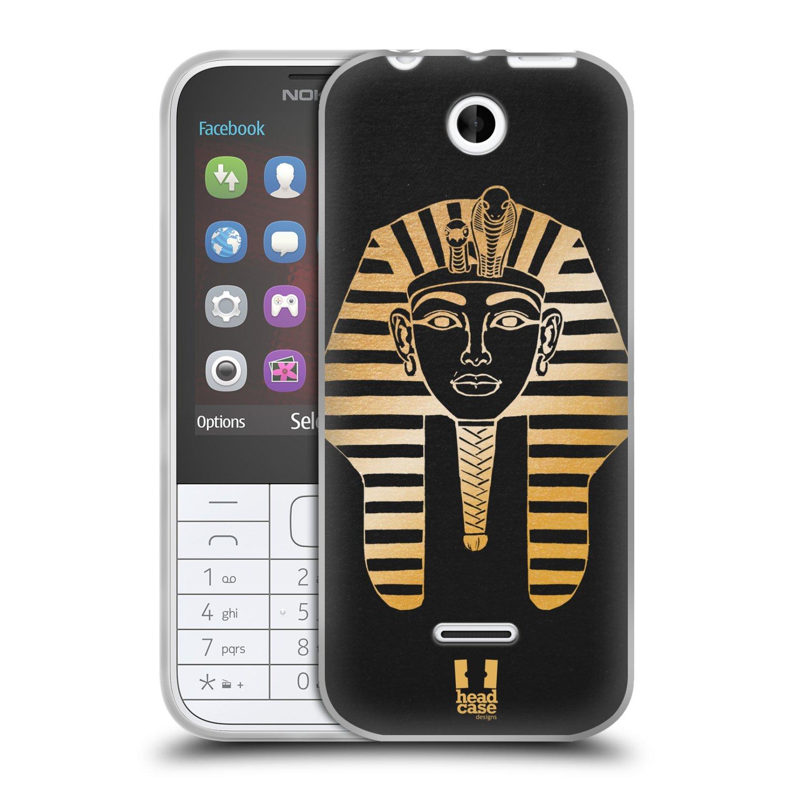 Silikonové pouzdro na mobil Nokia 225 HEAD CASE EGYPT FARAON (Silikonový kryt či obal na mobilní telefon Nokia 225)