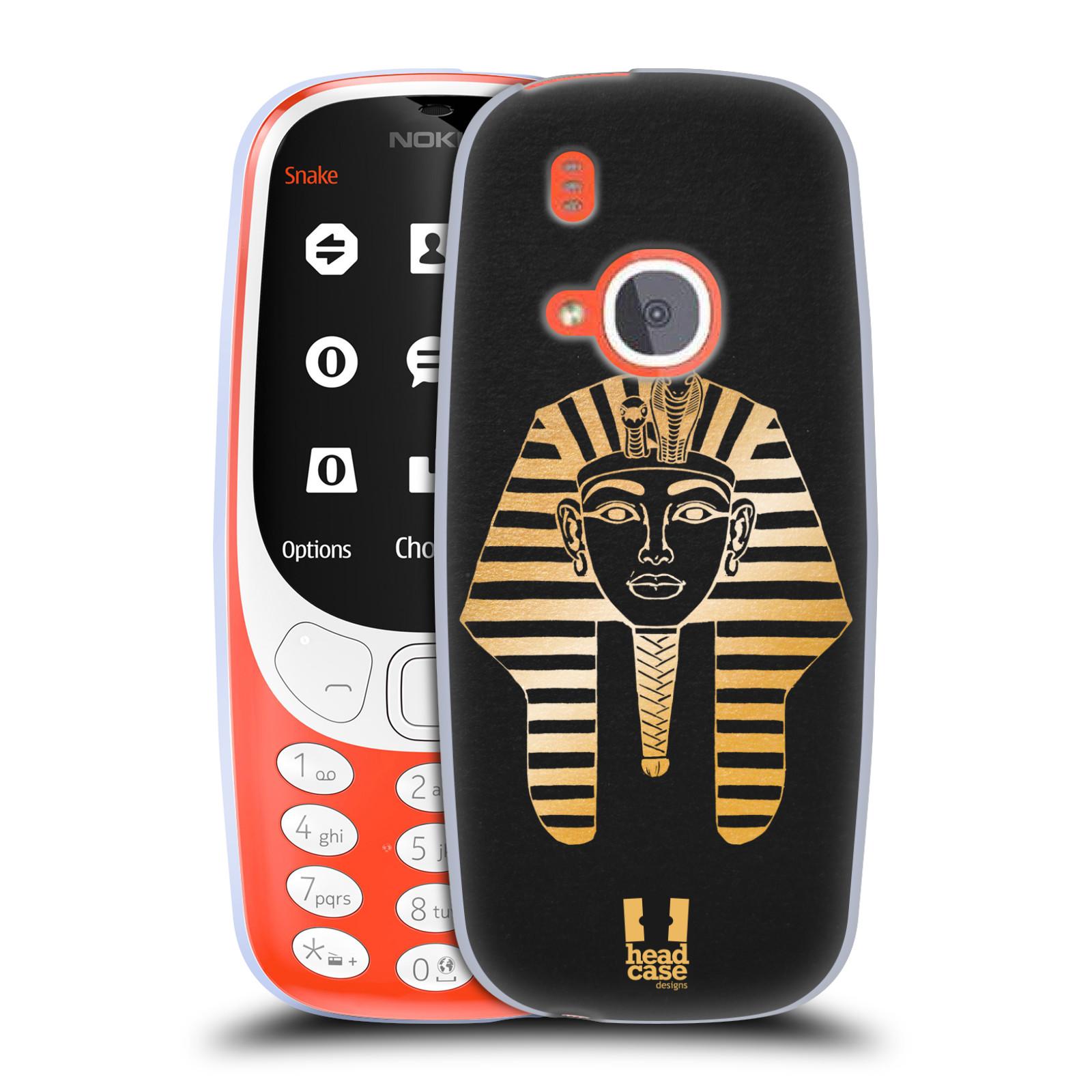 Silikonové pouzdro na mobil Nokia 3310 - Head Case - EGYPT FARAON (Silikonový kryt či obal na mobilní telefon Nokia 3310 (2017) s motivem EGYPT FARAON)