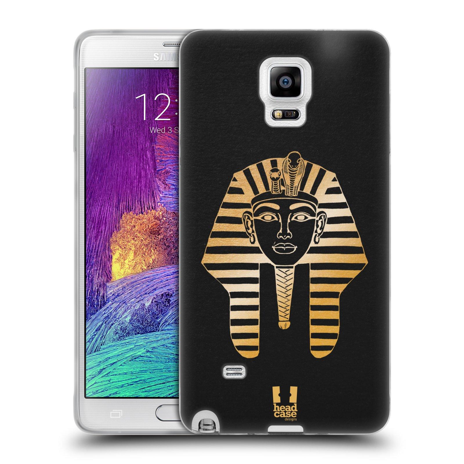 Silikonové pouzdro na mobil Samsung Galaxy Note 4 HEAD CASE EGYPT FARAON (Silikonový kryt či obal na mobilní telefon Samsung Galaxy Note 4 SM-N910F)