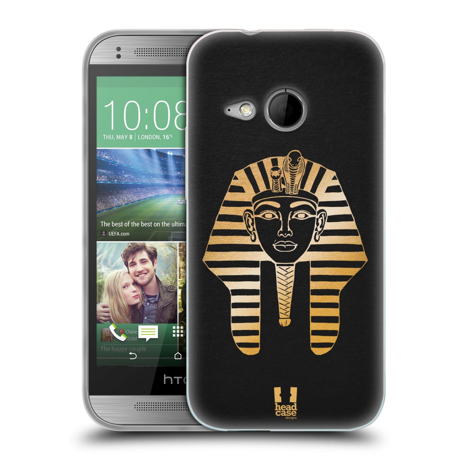 Silikonové pouzdro na mobil HTC ONE Mini 2 HEAD CASE EGYPT FARAON (Silikonový kryt či obal na mobilní telefon HTC ONE Mini 2)
