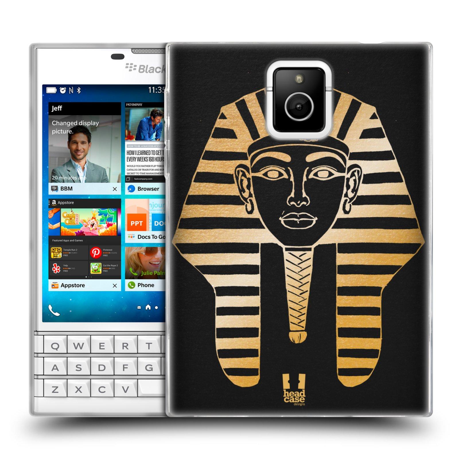 Silikonové pouzdro na mobil Blackberry PASSPORT HEAD CASE EGYPT FARAON (Silikonový kryt či obal na mobilní telefon Blackberry PASSPORT)