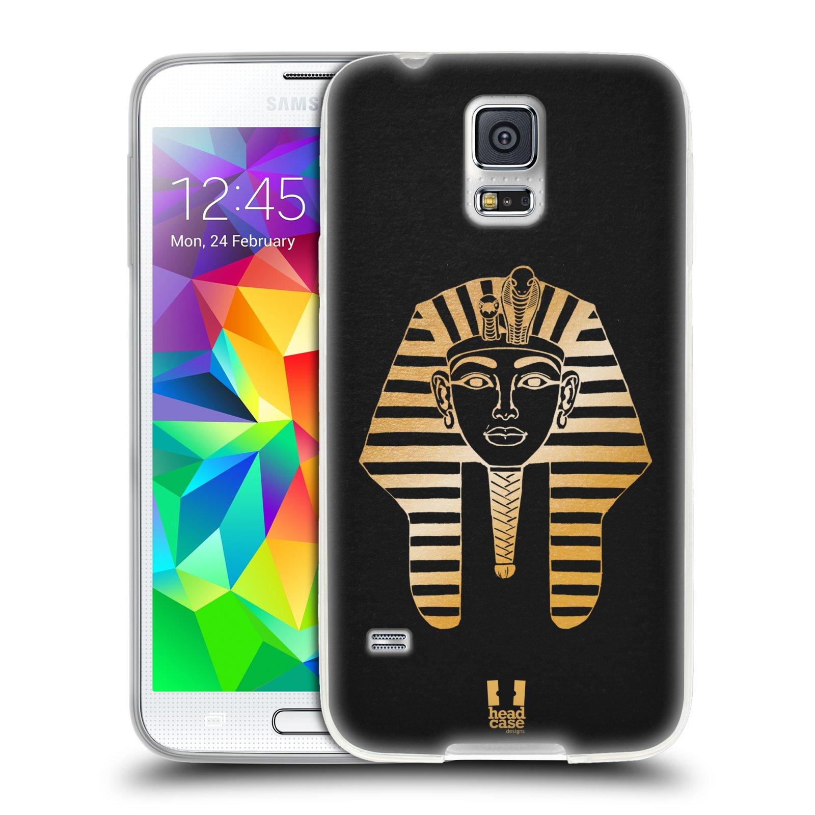 Silikonové pouzdro na mobil Samsung Galaxy S5 HEAD CASE EGYPT FARAON (Silikonový kryt či obal na mobilní telefon Samsung Galaxy S5 SM-G900F)