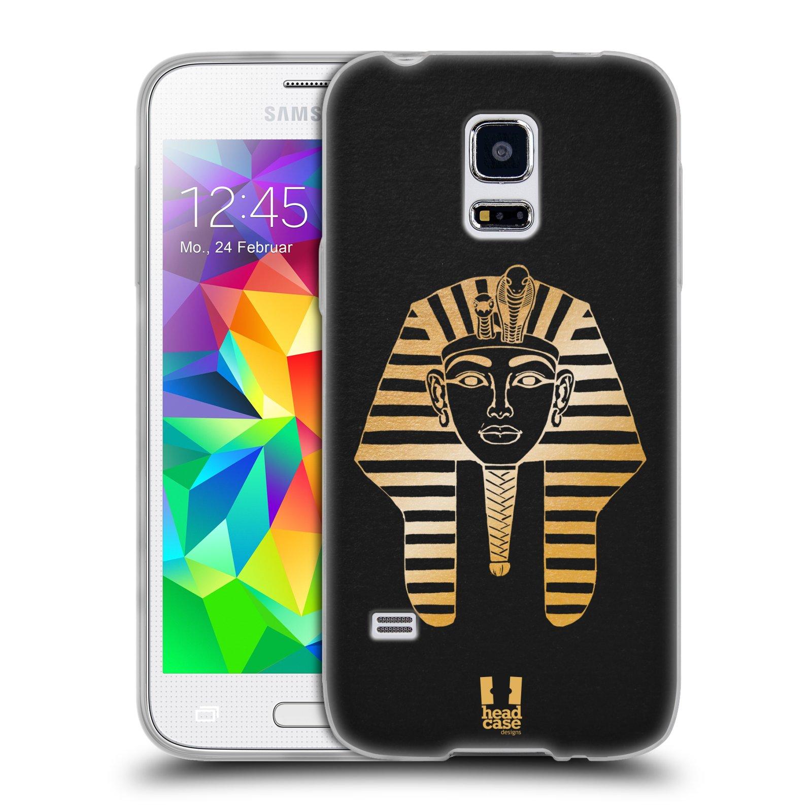 Silikonové pouzdro na mobil Samsung Galaxy S5 Mini HEAD CASE EGYPT FARAON (Silikonový kryt či obal na mobilní telefon Samsung Galaxy S5 Mini SM-G800F)