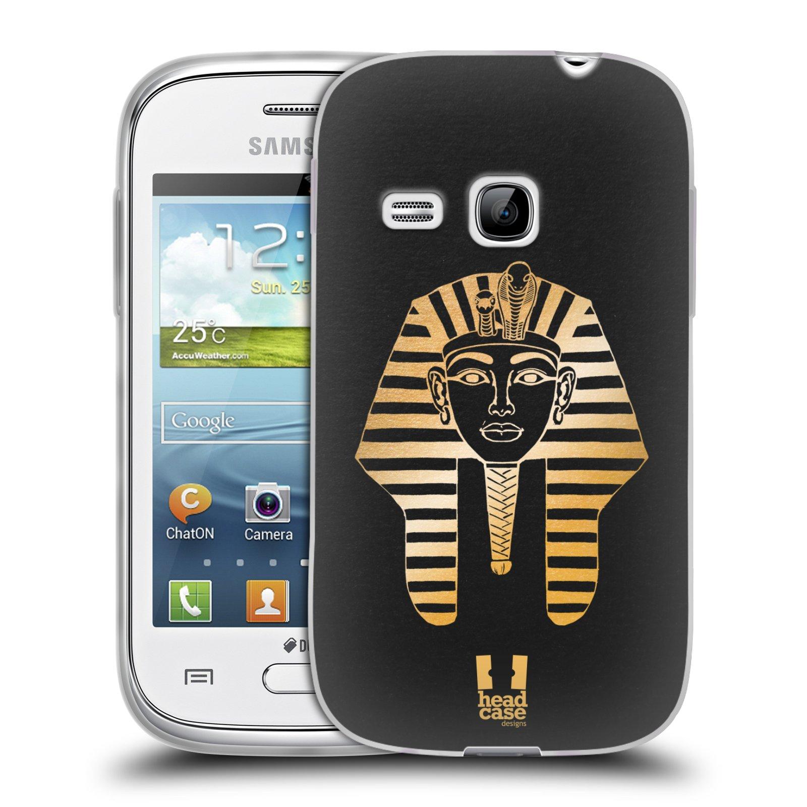 Silikonové pouzdro na mobil Samsung Galaxy Young HEAD CASE EGYPT FARAON (Silikonový kryt či obal na mobilní telefon Samsung Galaxy Young GT-S6310)