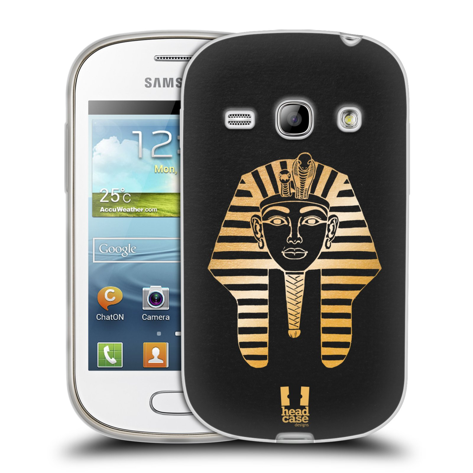Silikonové pouzdro na mobil Samsung Galaxy Fame HEAD CASE EGYPT FARAON (Silikonový kryt či obal na mobilní telefon Samsung Galaxy Fame GT-S6810)
