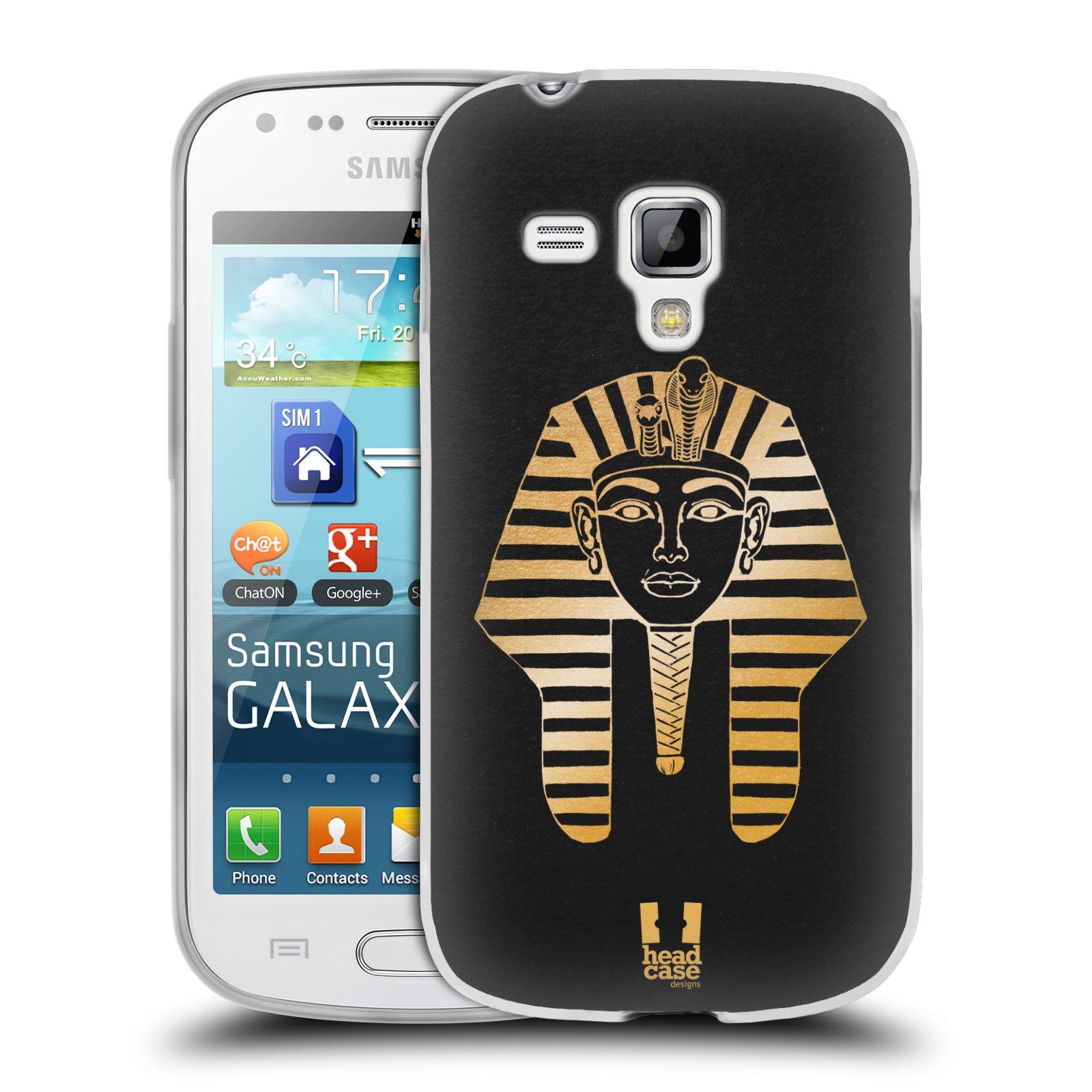 Silikonové pouzdro na mobil Samsung Galaxy Trend HEAD CASE EGYPT FARAON (Silikonový kryt či obal na mobilní telefon Samsung Galaxy Trend GT-S7560)