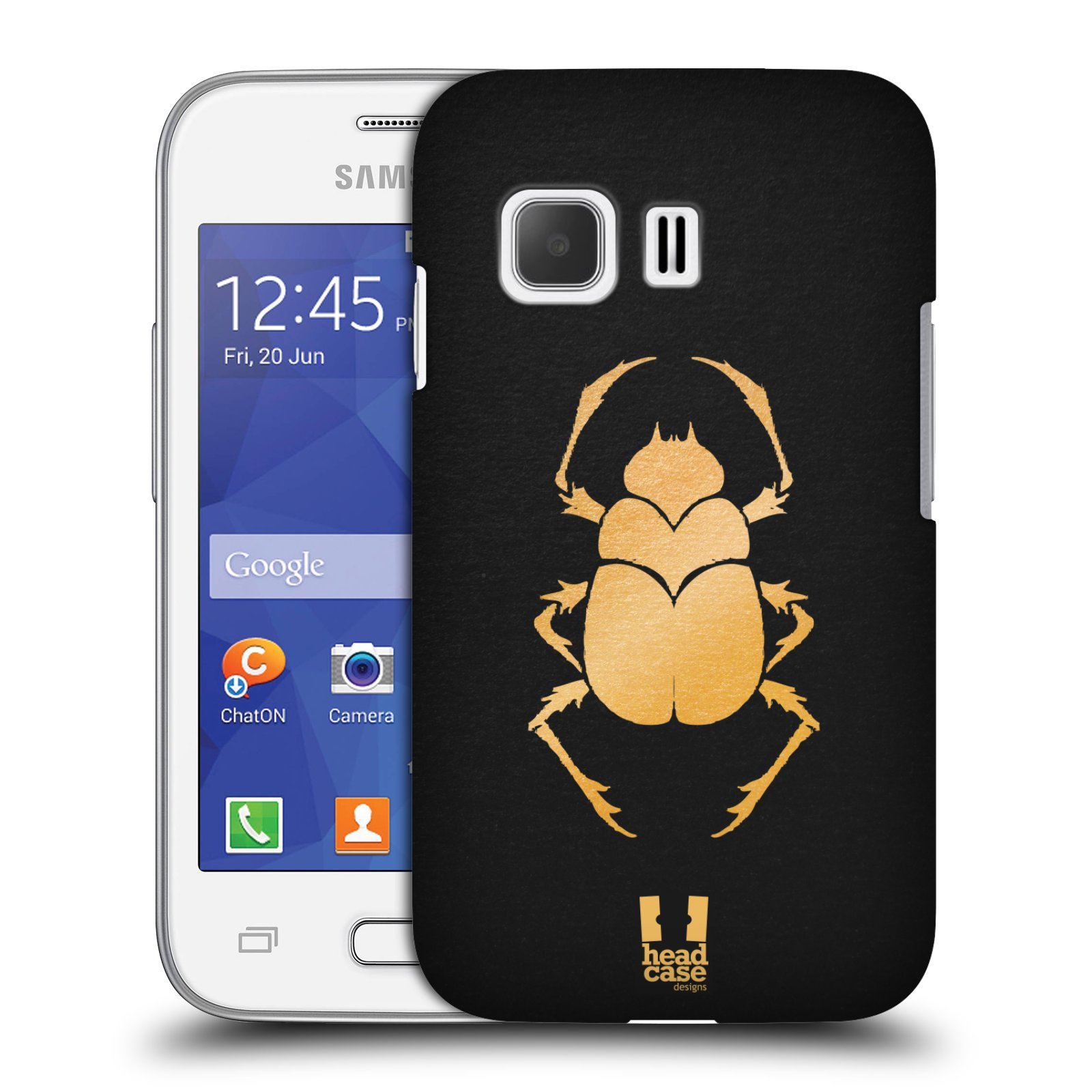 Plastové pouzdro na mobil Samsung Galaxy Young 2 HEAD CASE EGYPT SCARABEUS (Kryt či obal na mobilní telefon Samsung Galaxy Young 2 SM-G130)
