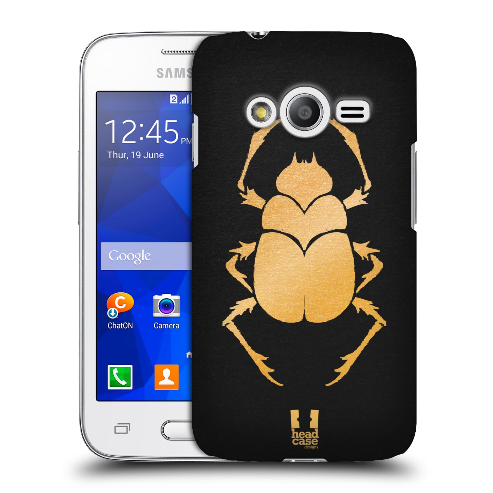 Plastové pouzdro na mobil Samsung Galaxy Trend 2 Lite HEAD CASE EGYPT SCARABEUS (Kryt či obal na mobilní telefon Samsung Galaxy Trend 2 Lite SM-G318)