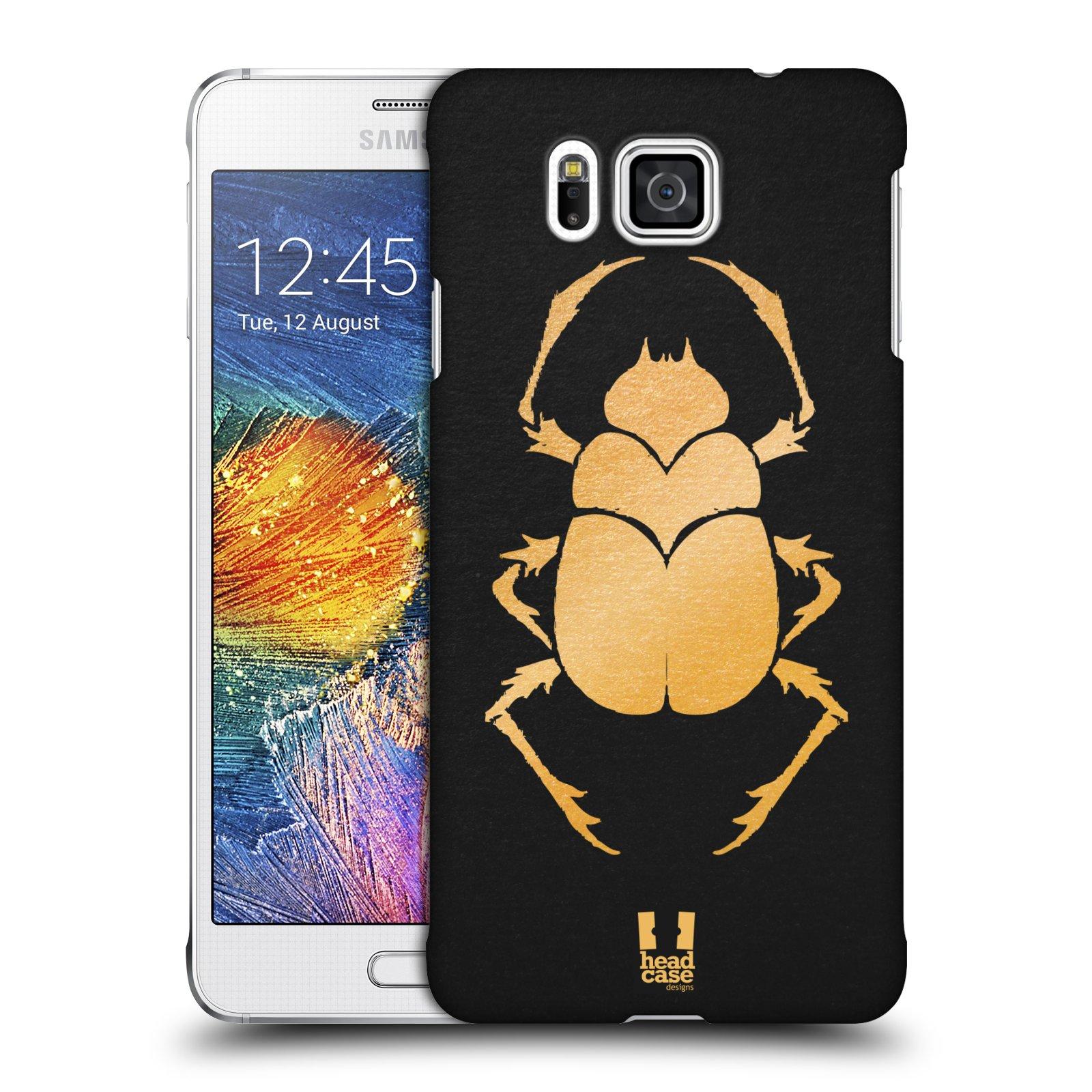 Plastové pouzdro na mobil Samsung Galaxy Alpha HEAD CASE EGYPT SCARABEUS (Kryt či obal na mobilní telefon Samsung Galaxy Alpha SM-G850)
