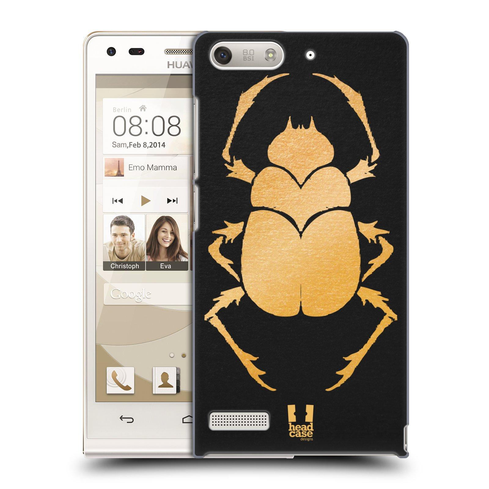 Plastové pouzdro na mobil Huawei Ascend G6 HEAD CASE EGYPT SCARABEUS (Kryt či obal na mobilní telefon Huawei Ascend G6 bez LTE)
