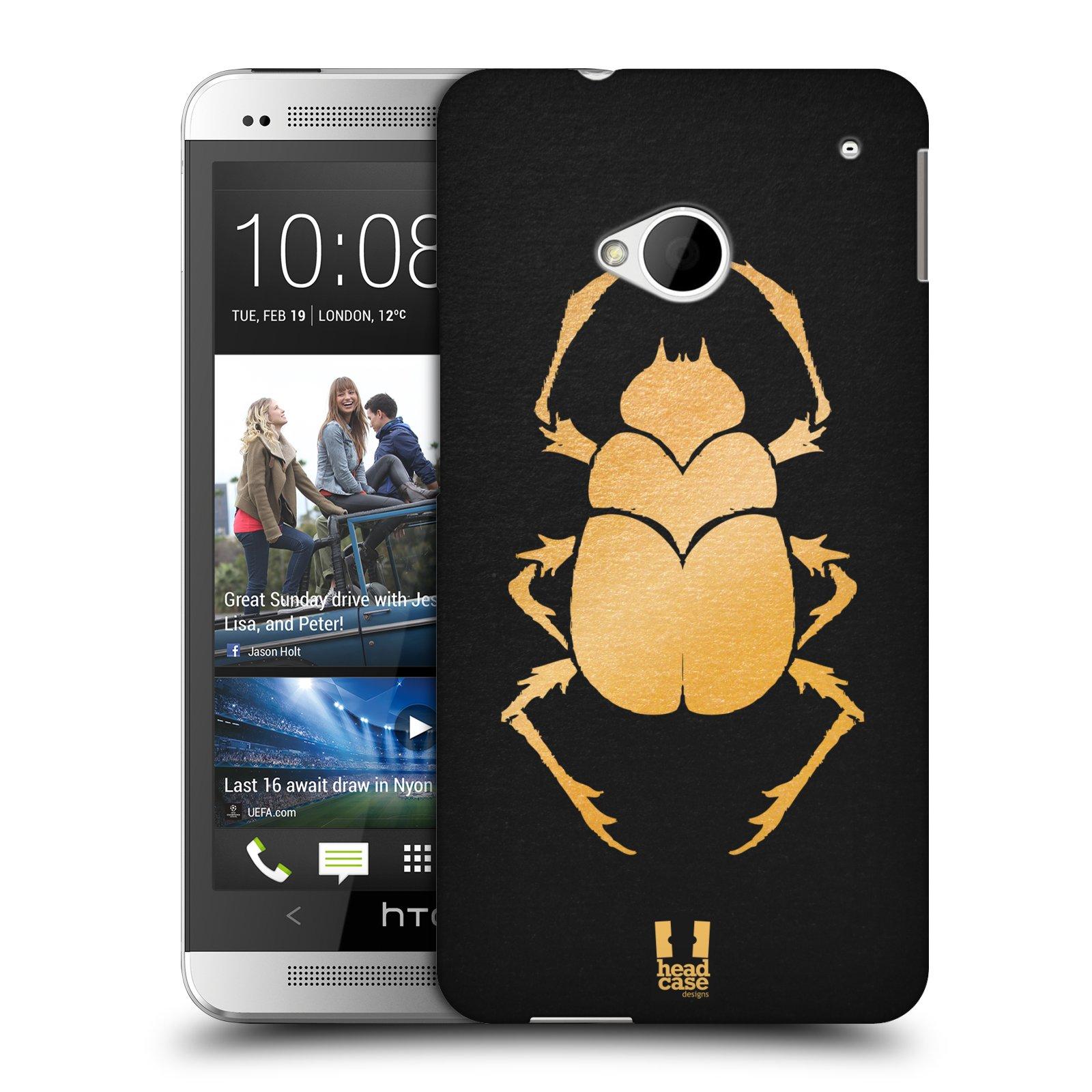 Plastové pouzdro na mobil HTC ONE M7 HEAD CASE EGYPT SCARABEUS (Kryt či obal na mobilní telefon HTC ONE M7)