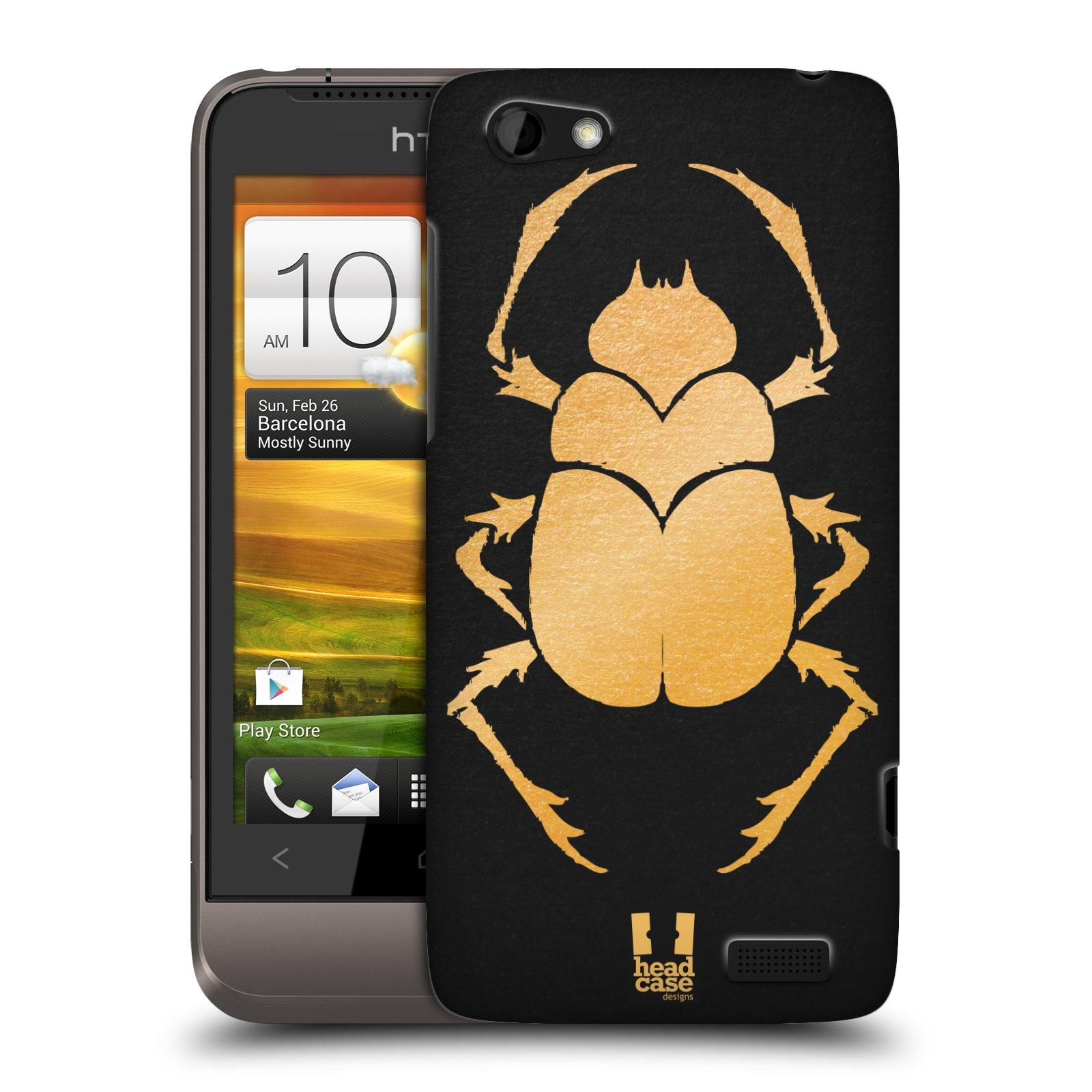Plastové pouzdro na mobil HTC ONE V HEAD CASE EGYPT SCARABEUS (Kryt či obal na mobilní telefon HTC ONE V)