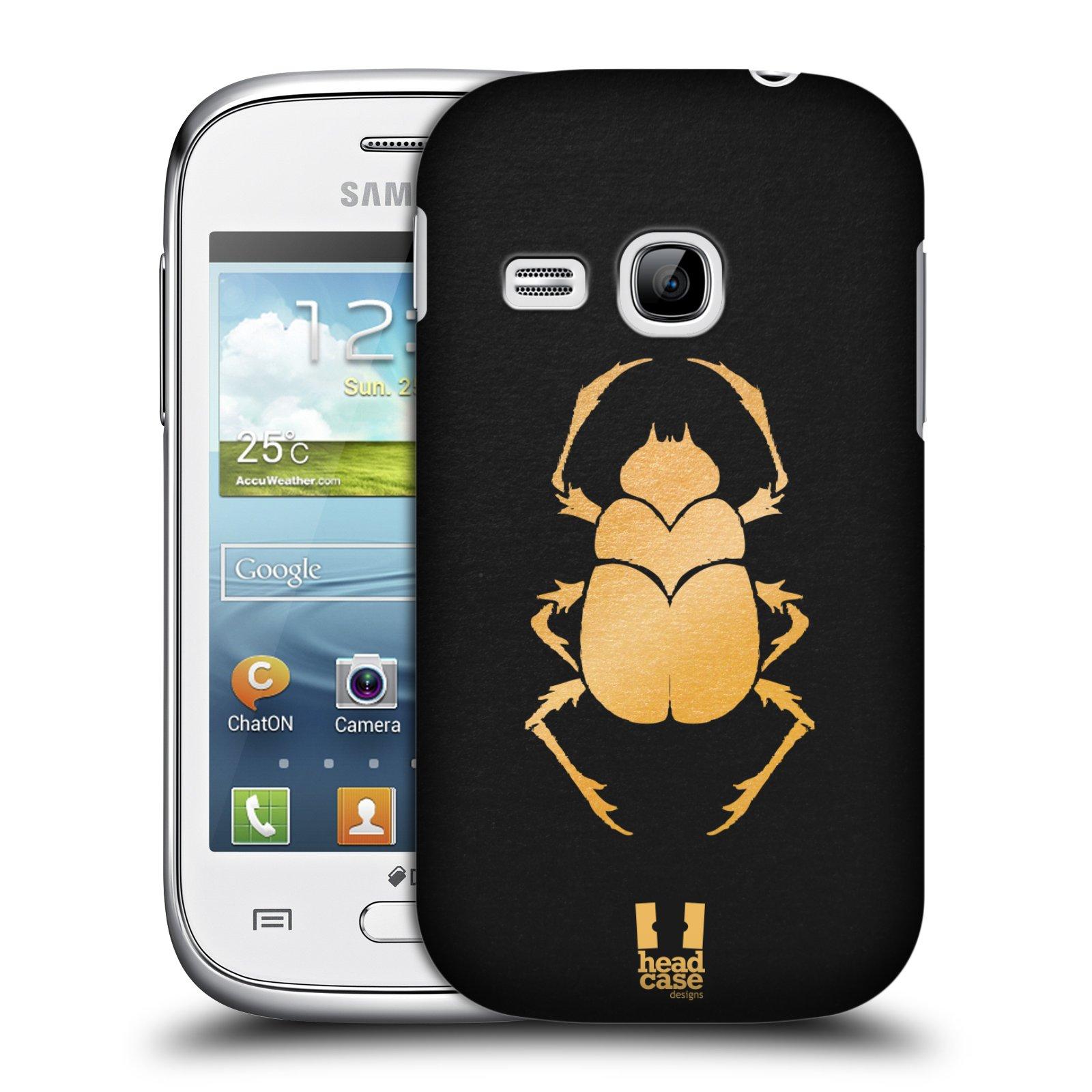 Plastové pouzdro na mobil Samsung Galaxy Young HEAD CASE EGYPT SCARABEUS (Kryt či obal na mobilní telefon Samsung Galaxy Young GT-S6310)