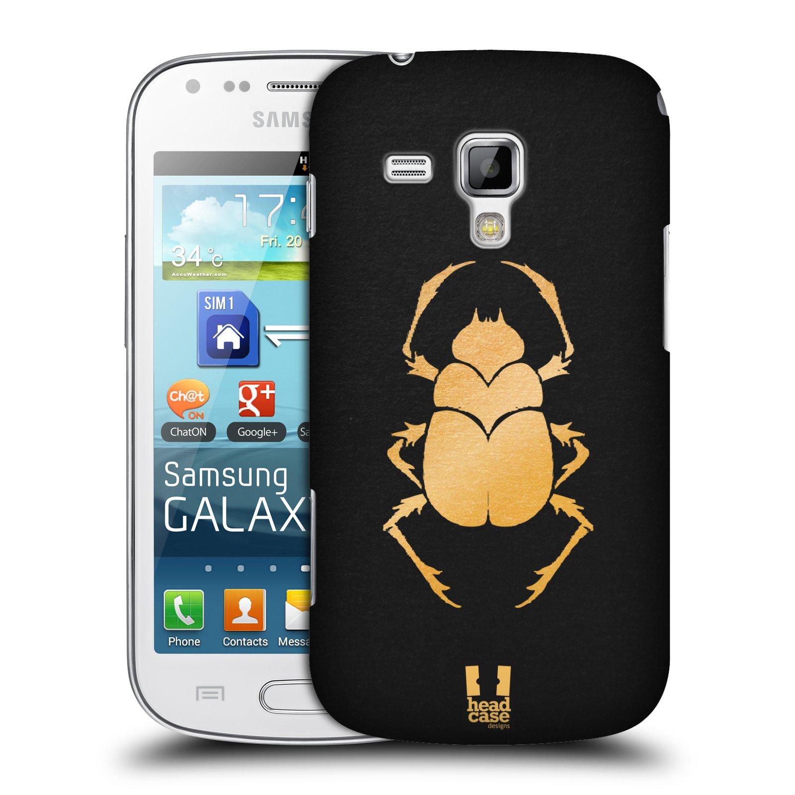 Plastové pouzdro na mobil Samsung Galaxy S Duos HEAD CASE EGYPT SCARABEUS (Kryt či obal na mobilní telefon Samsung Galaxy S Duos GT-S7562)