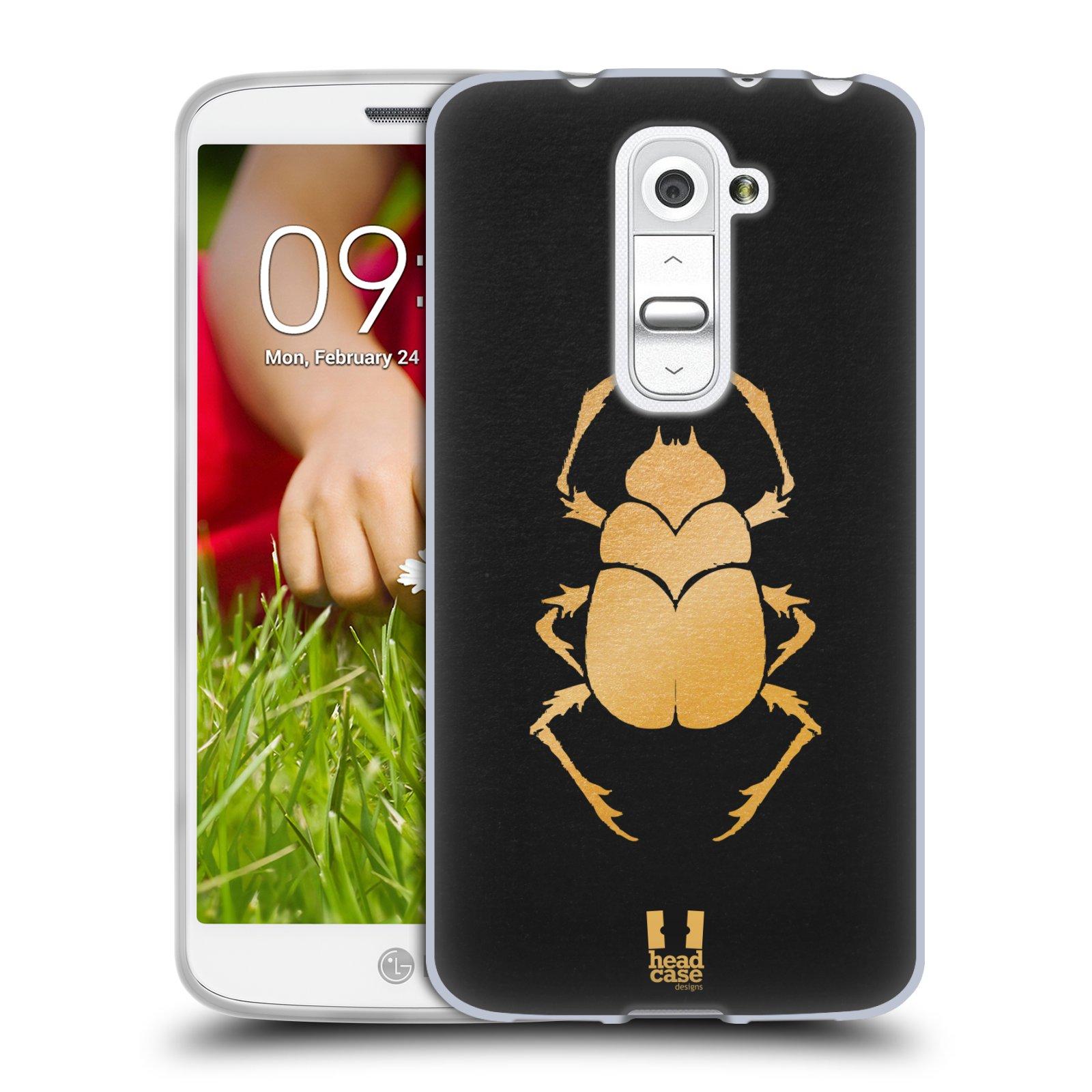Silikonové pouzdro na mobil LG G2 Mini HEAD CASE EGYPT SCARABEUS (Silikonový kryt či obal na mobilní telefon LG G2 Mini D620)