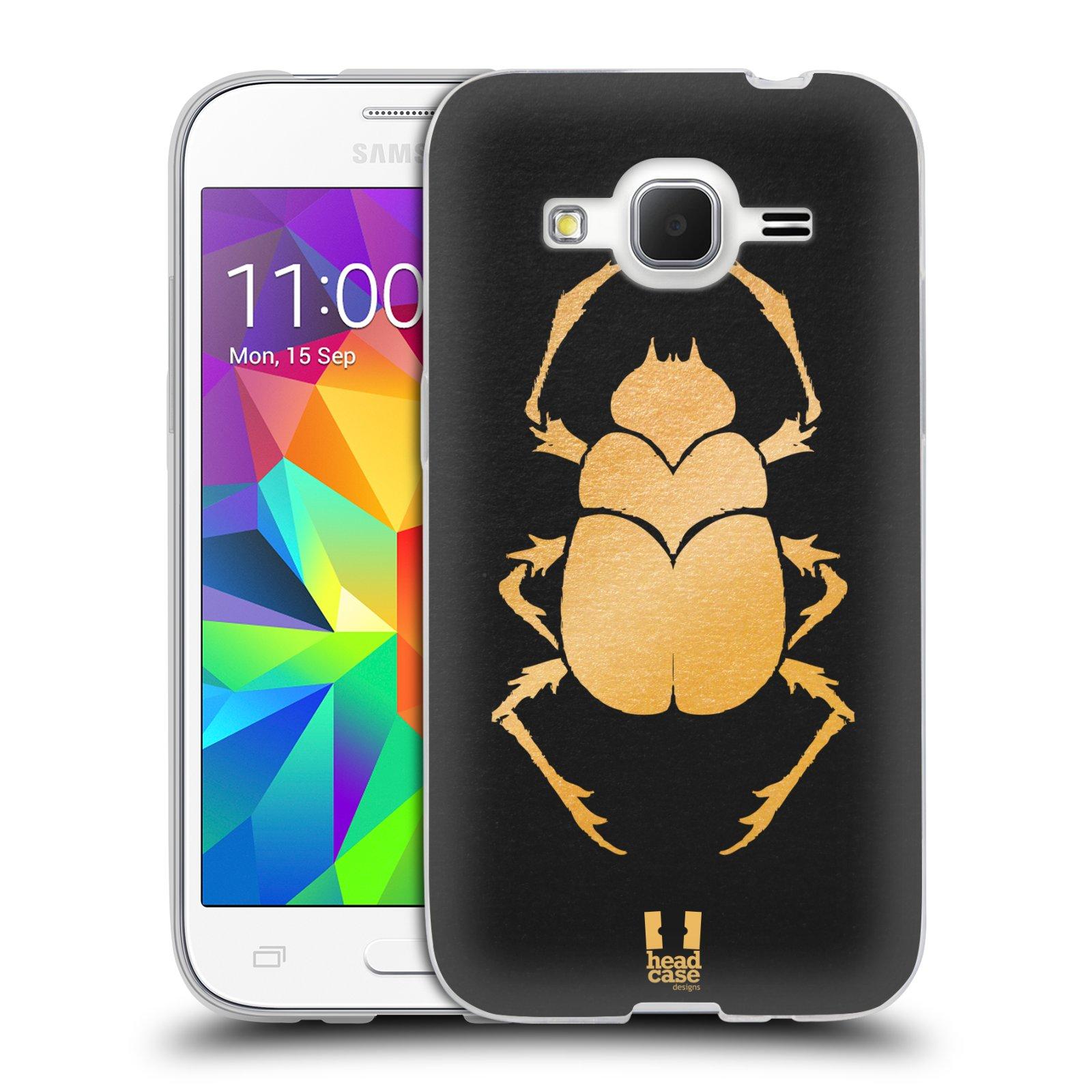 Silikonové pouzdro na mobil Samsung Galaxy Core Prime LTE HEAD CASE EGYPT SCARABEUS (Silikonový kryt či obal na mobilní telefon Samsung Galaxy Core Prime LTE SM-G360)