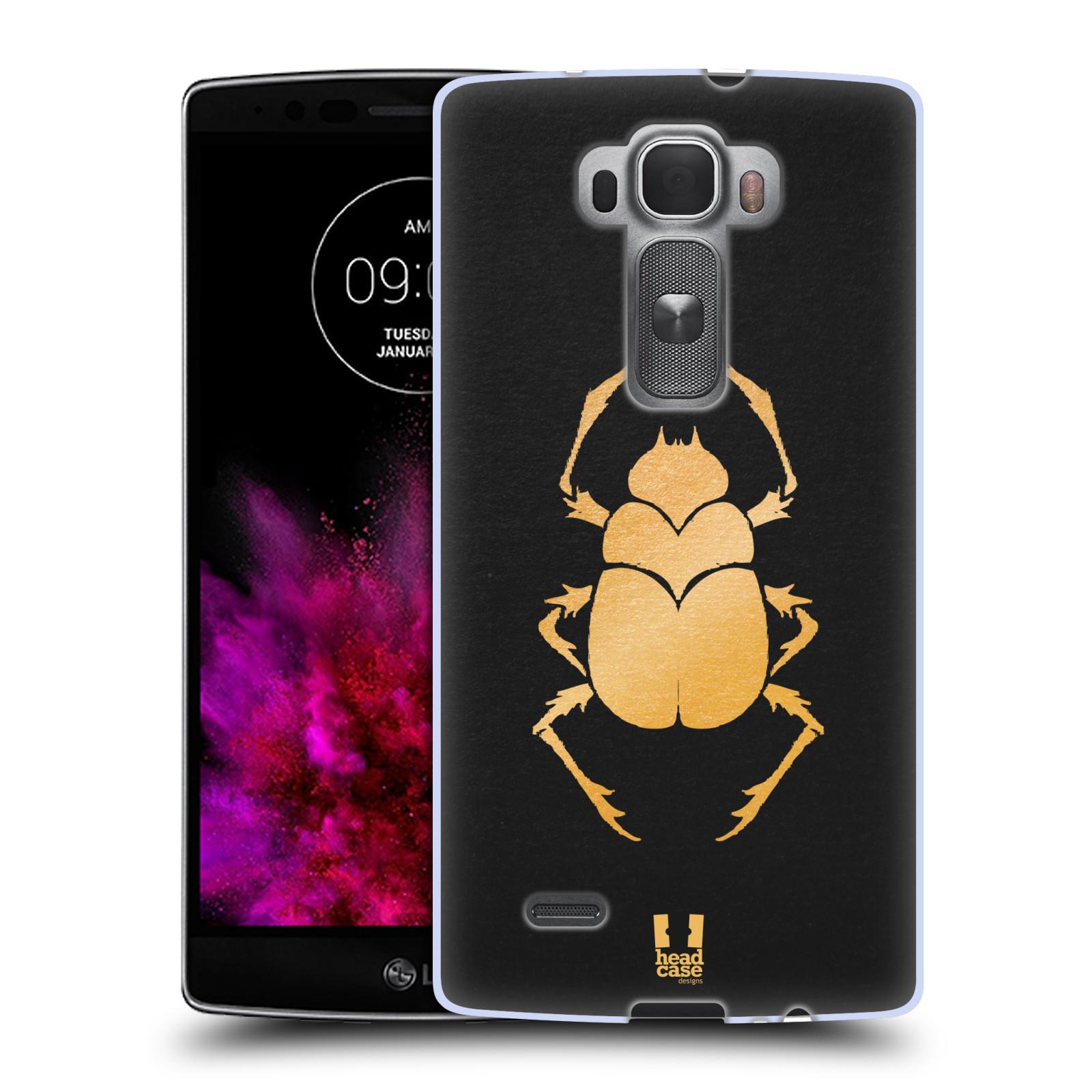 Silikonové pouzdro na mobil LG G Flex 2 HEAD CASE EGYPT SCARABEUS (Silikonový kryt či obal na mobilní telefon LG G Flex 2 H955)