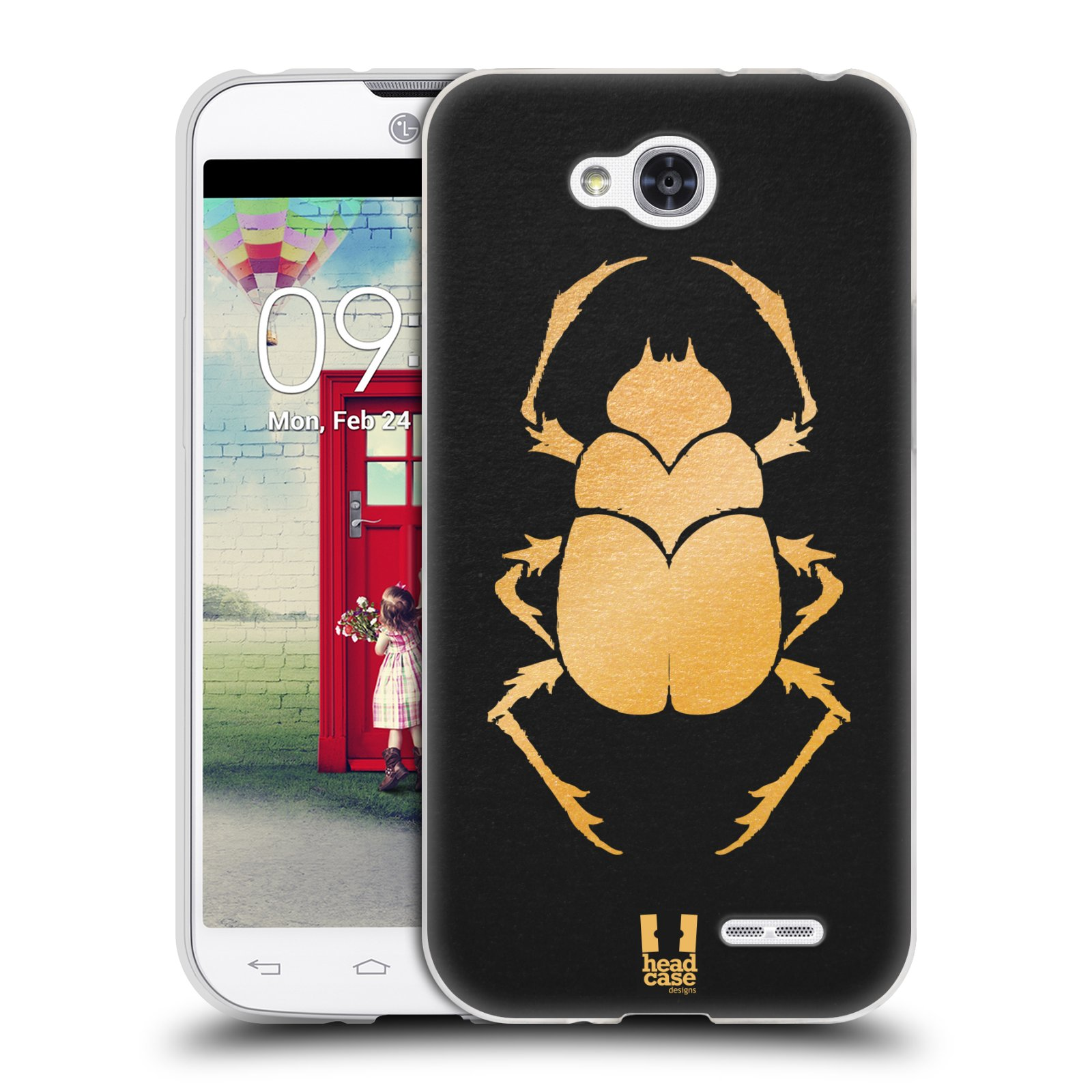 Silikonové pouzdro na mobil LG L90 HEAD CASE EGYPT SCARABEUS (Silikonový kryt či obal na mobilní telefon LG L90 D405n)