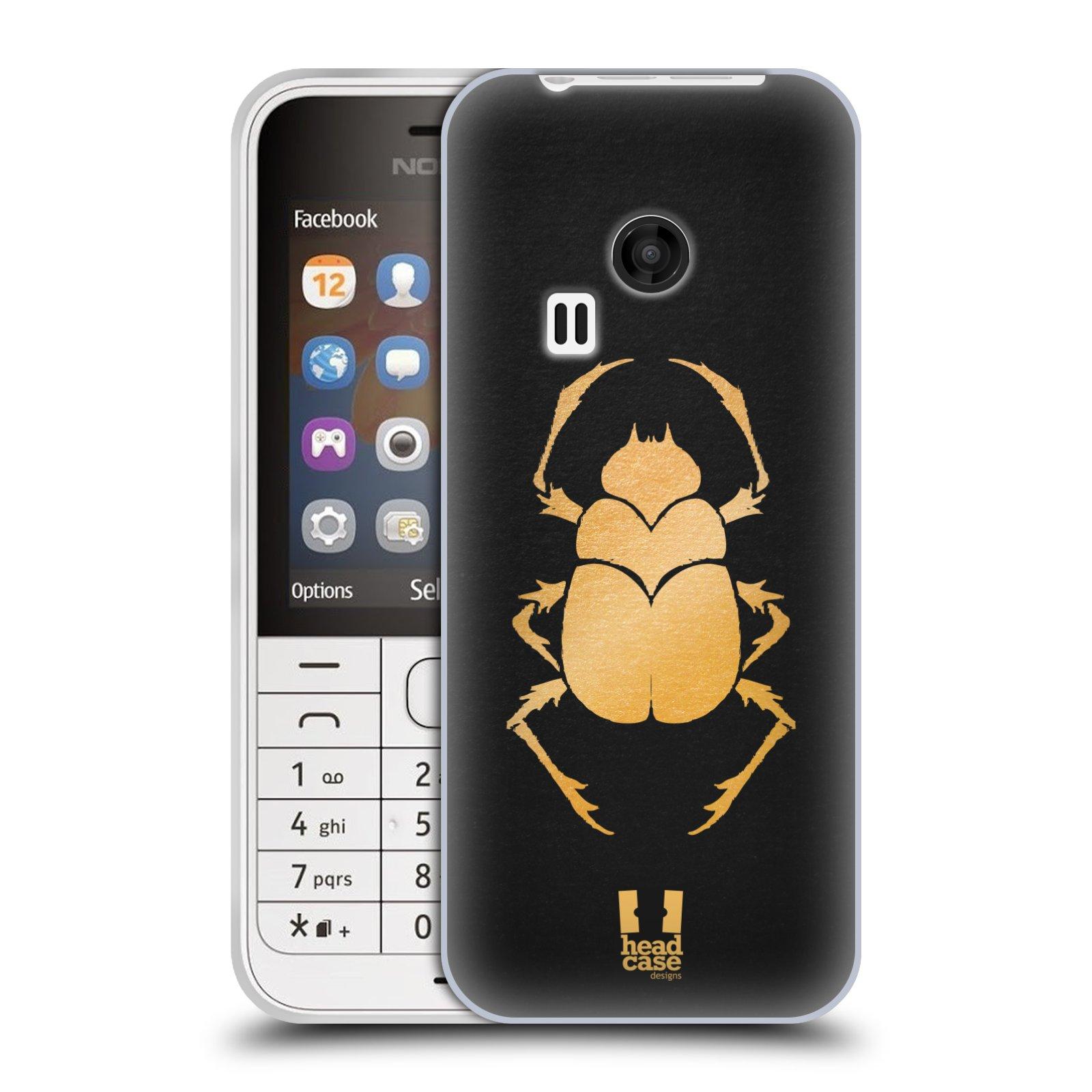Silikonové pouzdro na mobil Nokia 220 HEAD CASE EGYPT SCARABEUS (Silikonový kryt či obal na mobilní telefon Nokia 220 a 220 Dual SIM)