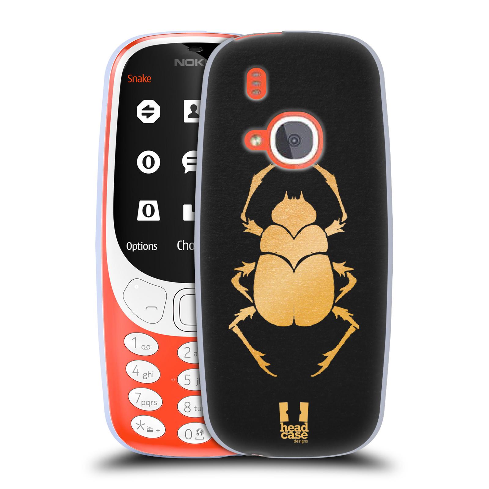 Silikonové pouzdro na mobil Nokia 3310 - Head Case - EGYPT SCARABEUS (Silikonový kryt či obal na mobilní telefon Nokia 3310 (2017) s motivem EGYPT SCARABEUS)