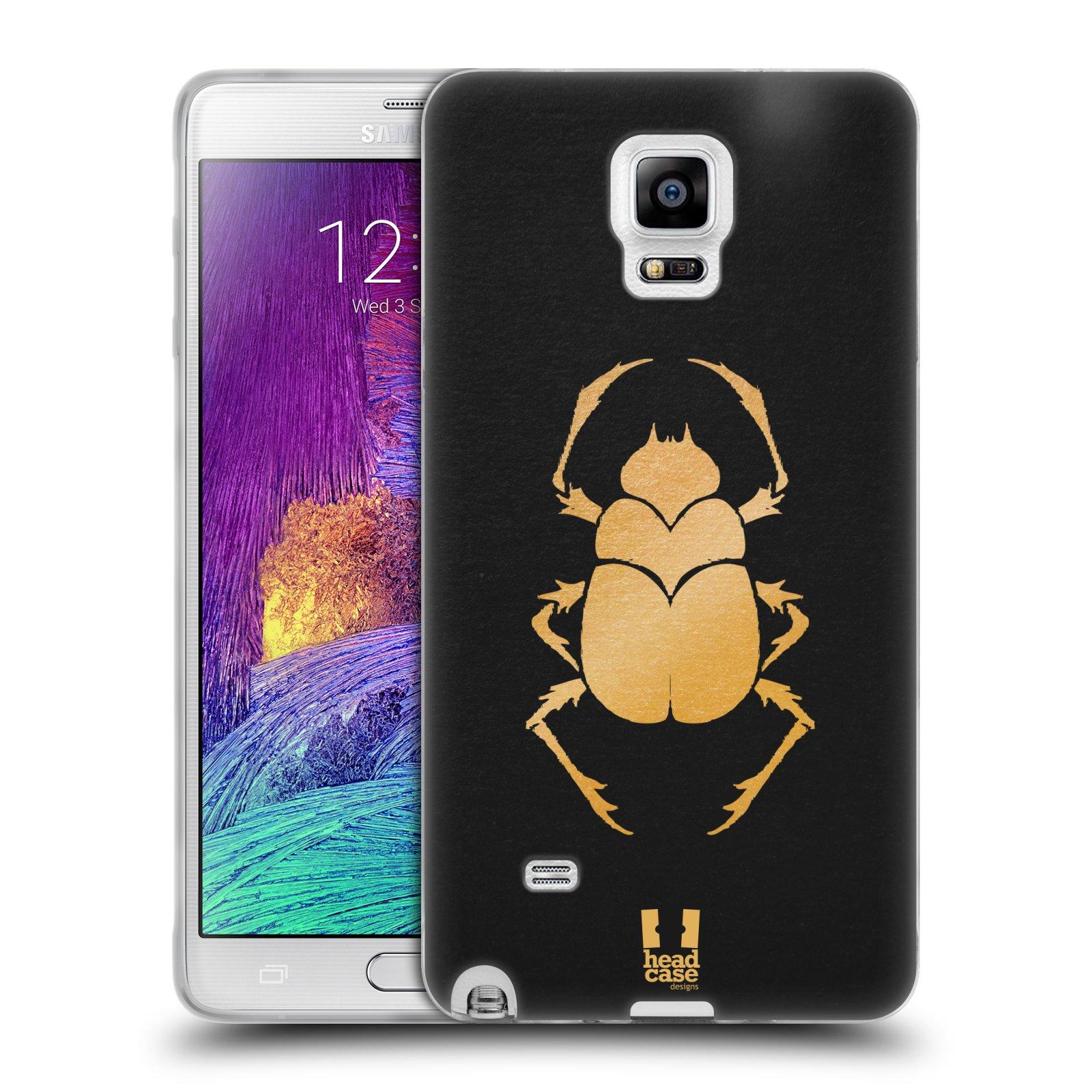 Silikonové pouzdro na mobil Samsung Galaxy Note 4 HEAD CASE EGYPT SCARABEUS (Silikonový kryt či obal na mobilní telefon Samsung Galaxy Note 4 SM-N910F)