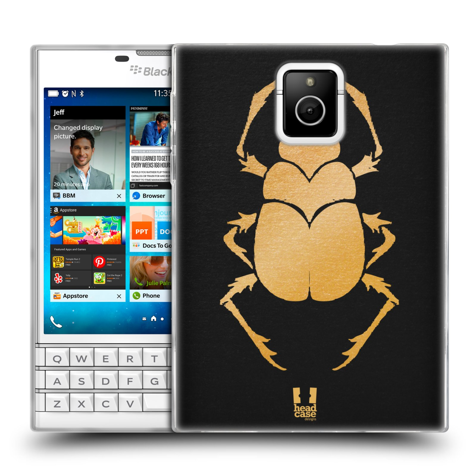 Silikonové pouzdro na mobil Blackberry PASSPORT HEAD CASE EGYPT SCARABEUS (Silikonový kryt či obal na mobilní telefon Blackberry PASSPORT)