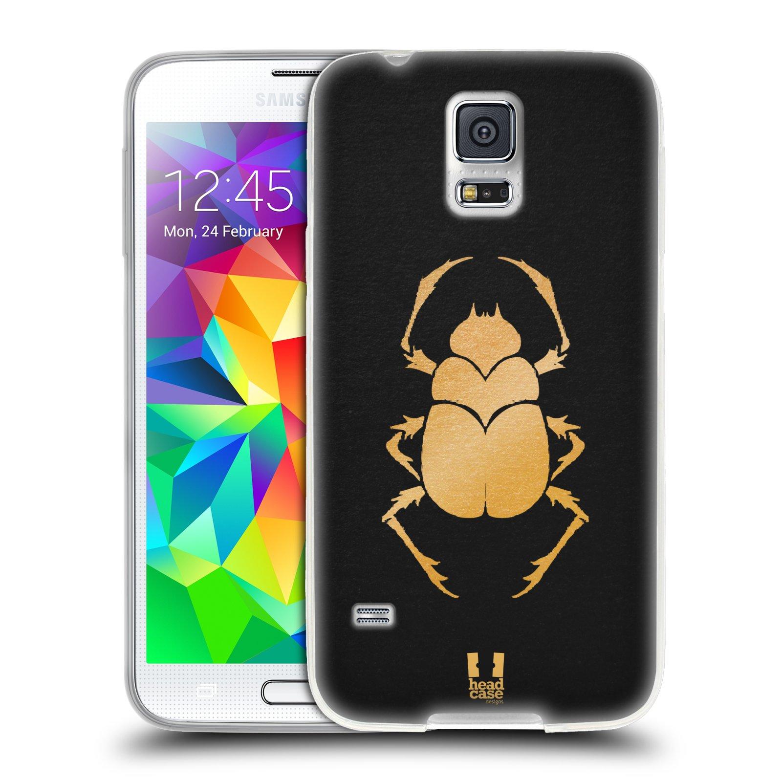 Silikonové pouzdro na mobil Samsung Galaxy S5 HEAD CASE EGYPT SCARABEUS (Silikonový kryt či obal na mobilní telefon Samsung Galaxy S5 SM-G900F)