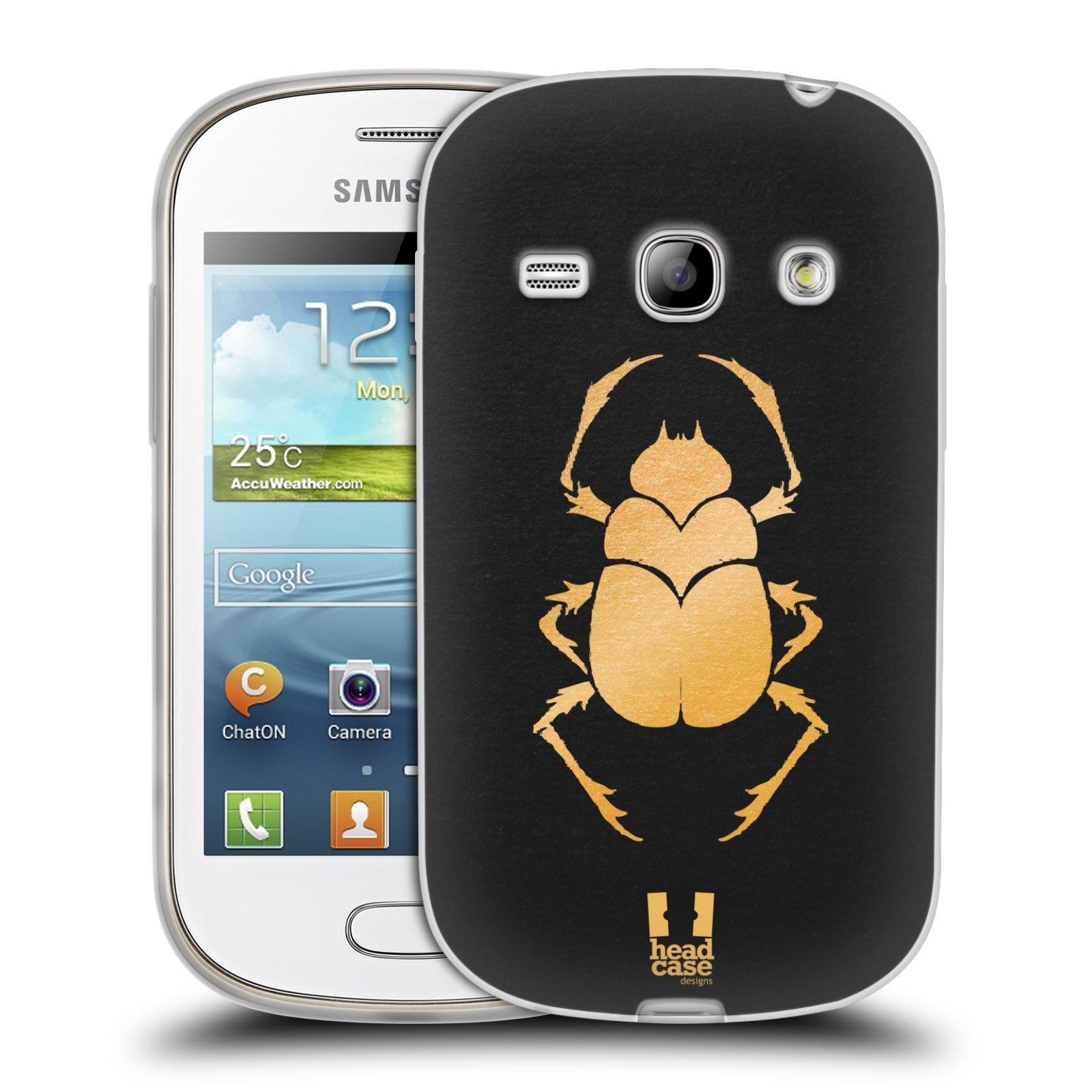 Silikonové pouzdro na mobil Samsung Galaxy Fame HEAD CASE EGYPT SCARABEUS (Silikonový kryt či obal na mobilní telefon Samsung Galaxy Fame GT-S6810)