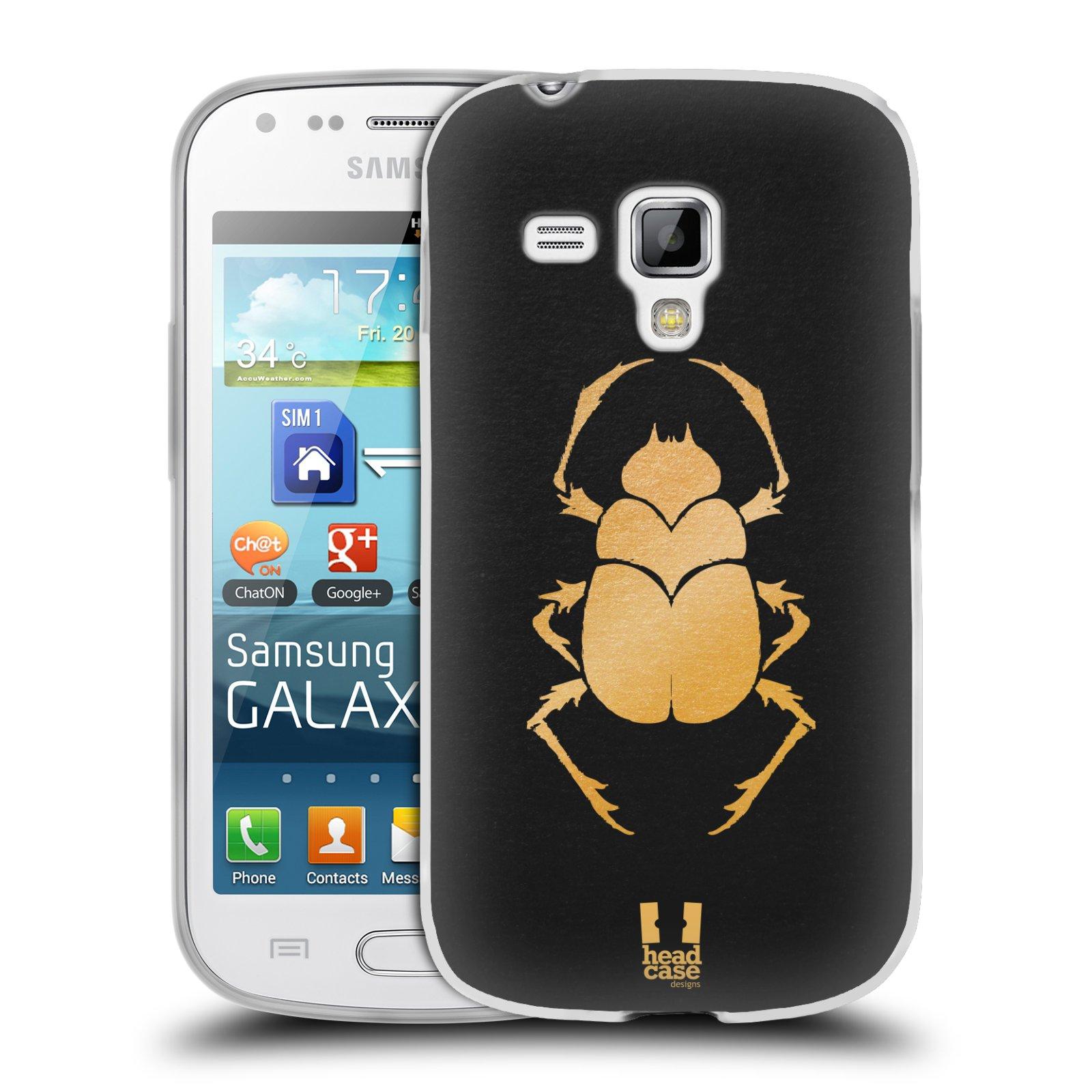 Silikonové pouzdro na mobil Samsung Galaxy Trend HEAD CASE EGYPT SCARABEUS (Silikonový kryt či obal na mobilní telefon Samsung Galaxy Trend GT-S7560)