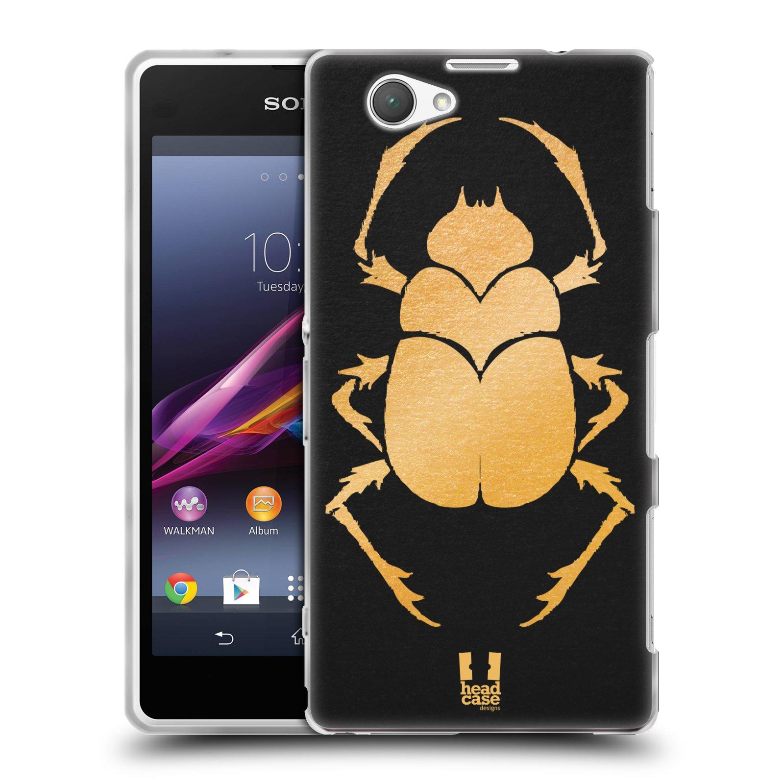 Silikonové pouzdro na mobil Sony Xperia Z1 Compact D5503 HEAD CASE EGYPT SCARABEUS (Silikonový kryt či obal na mobilní telefon Sony Xperia Z1 Compact)