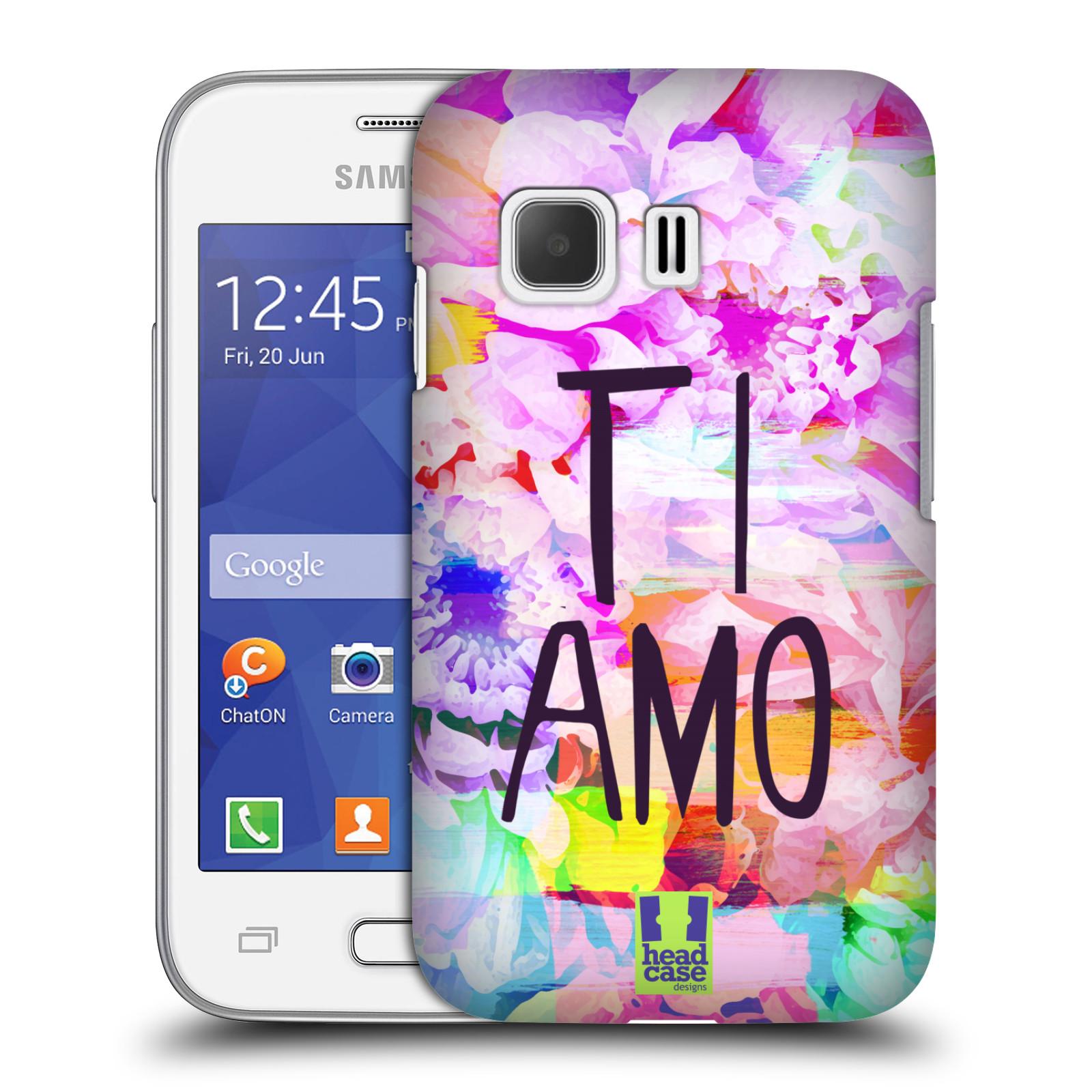Plastové pouzdro na mobil Samsung Galaxy Young 2 HEAD CASE Květy Ti Amo (Plastový kryt či obal na mobilní telefon Samsung Galaxy Young 2 SM-G130)