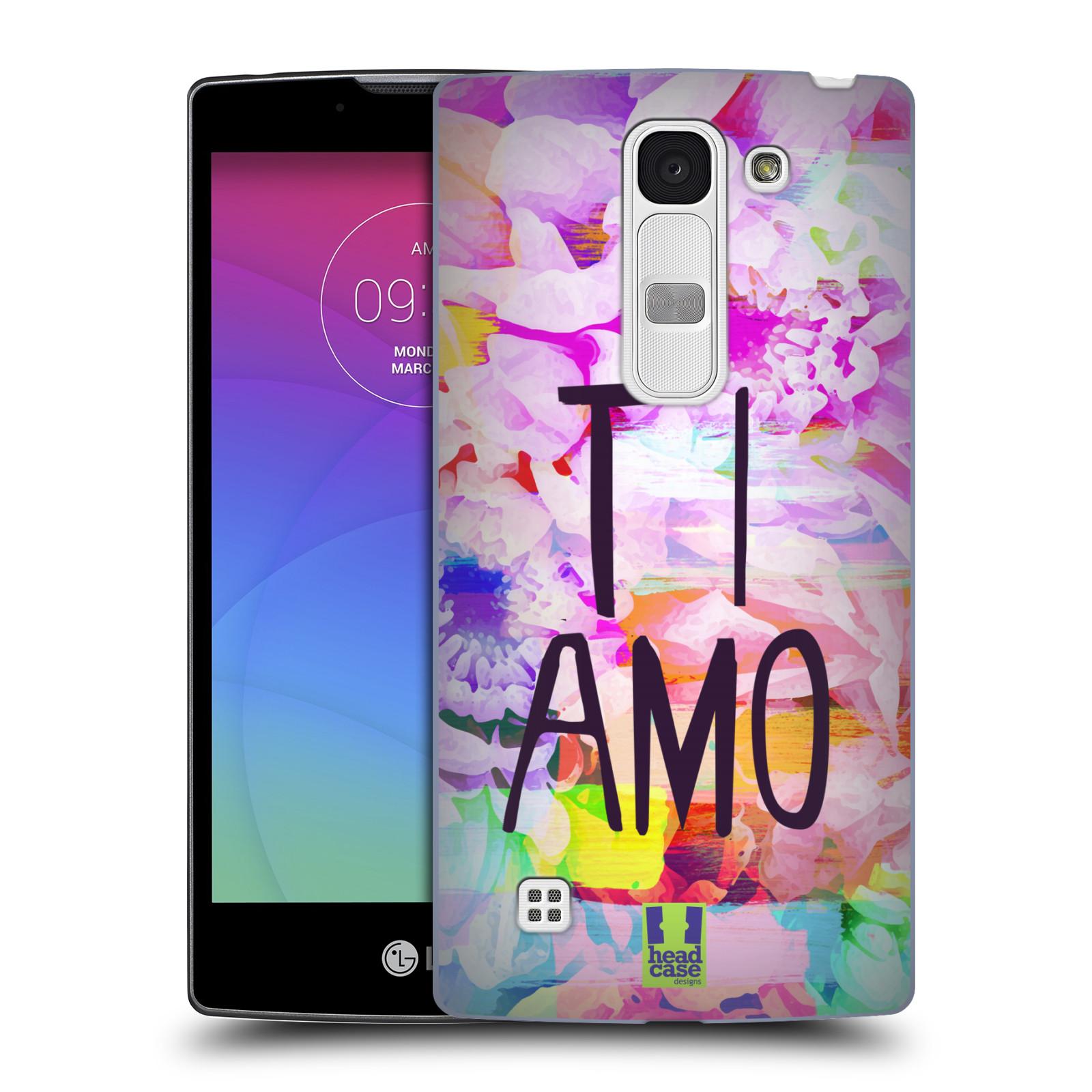 Plastové pouzdro na mobil LG Spirit LTE HEAD CASE Květy Ti Amo (Plastový kryt či obal na mobilní telefon LG Spirit H420 a LG Spirit LTE H440N)